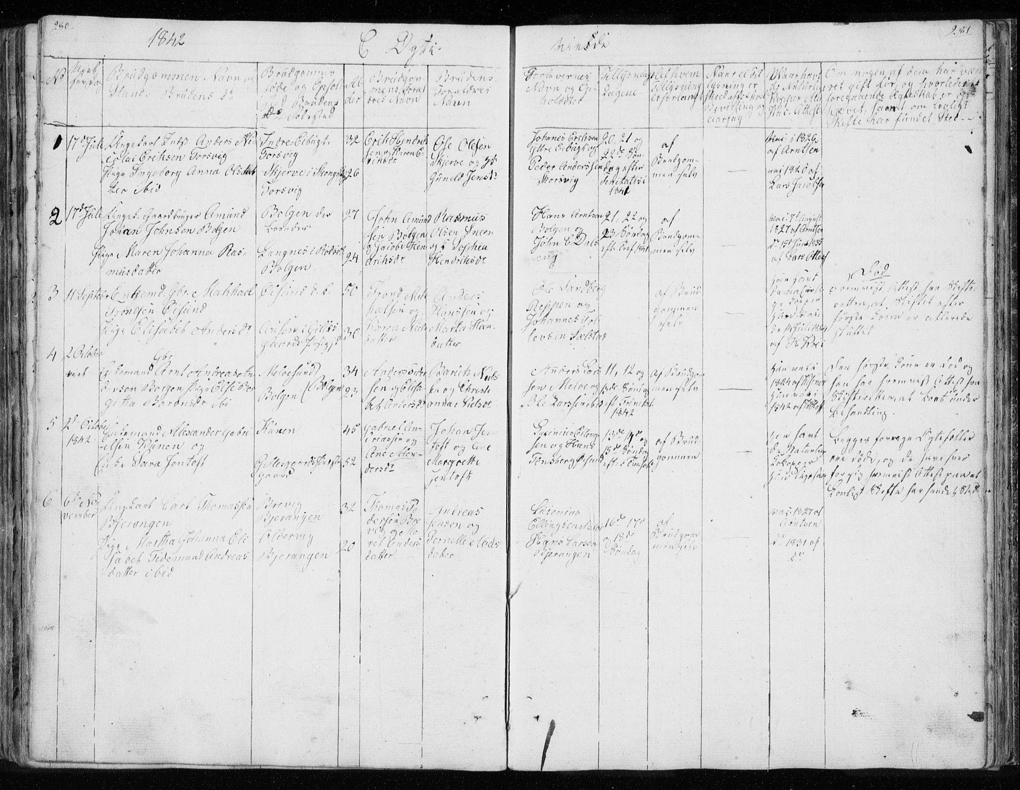 SAT, Ministerialprotokoller, klokkerbøker og fødselsregistre - Nordland, 843/L0632: Klokkerbok nr. 843C01, 1833-1853, s. 280-281