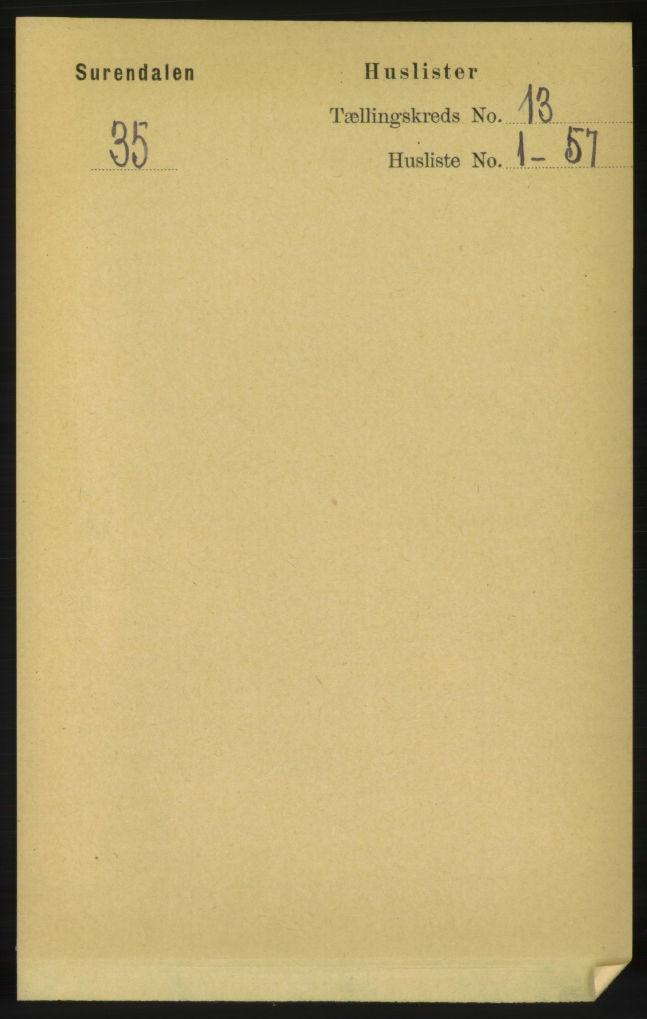 RA, Folketelling 1891 for 1566 Surnadal herred, 1891, s. 3107