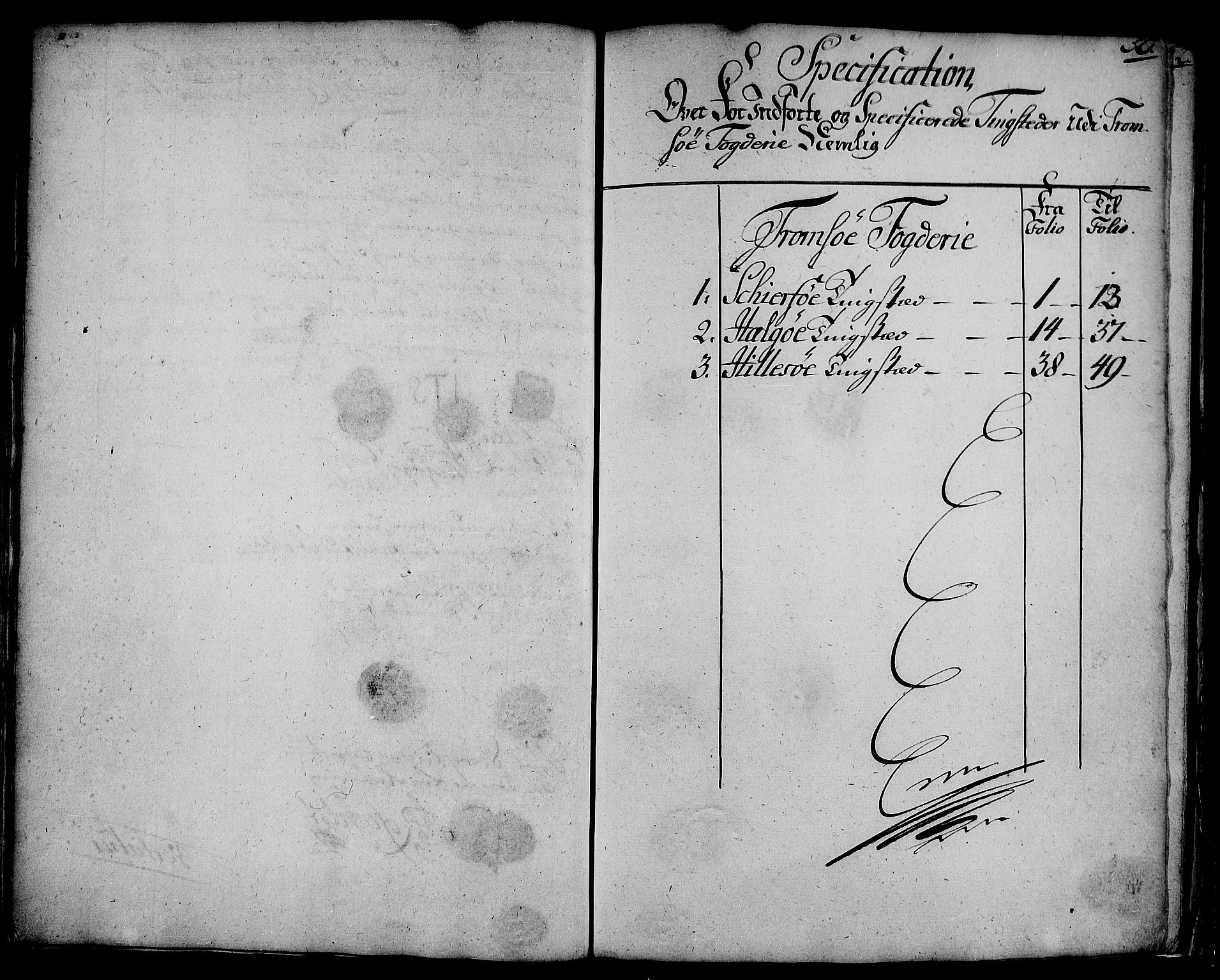 RA, Rentekammeret inntil 1814, Realistisk ordnet avdeling, N/Nb/Nbf/L0180: Troms eksaminasjonsprotokoll, 1723, s. 49b-50a