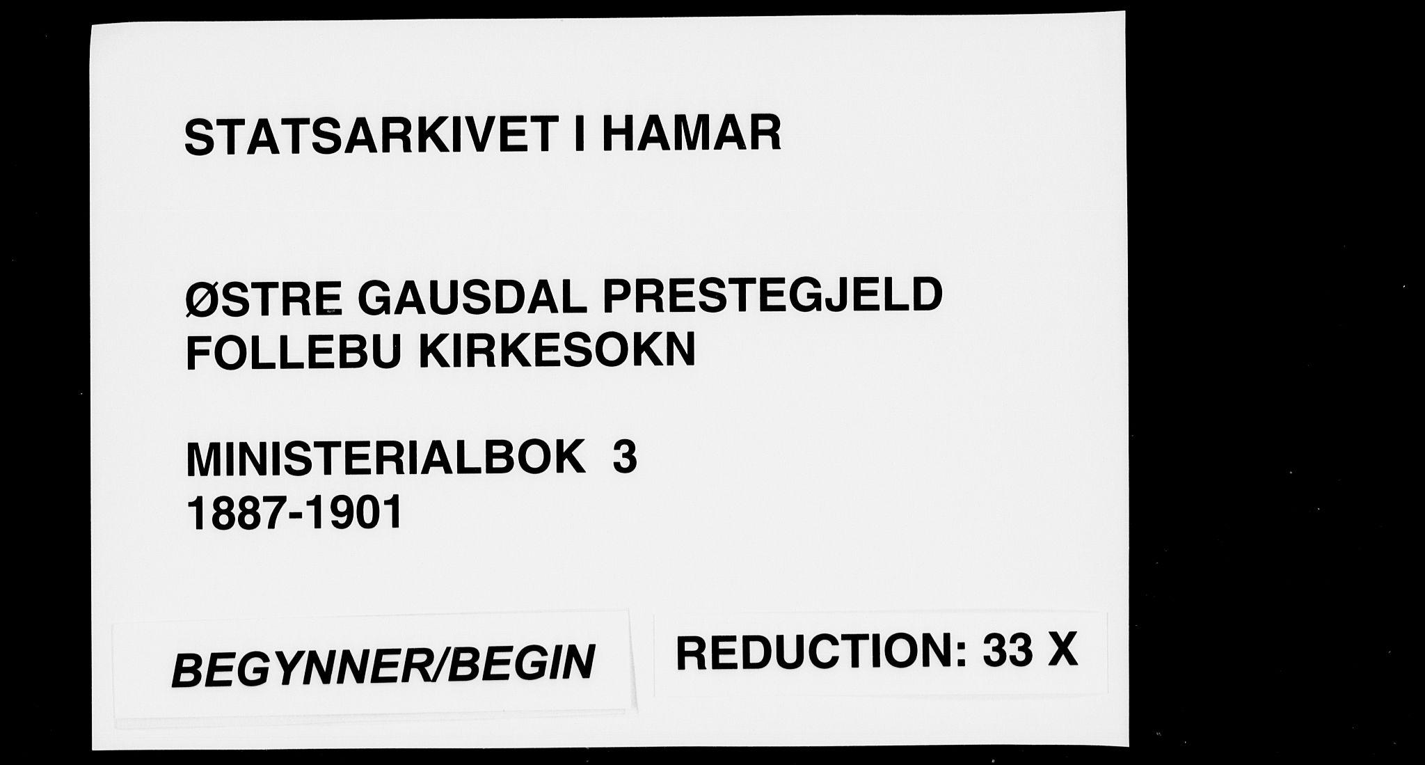 SAH, Østre Gausdal prestekontor, Ministerialbok nr. 3, 1887-1901