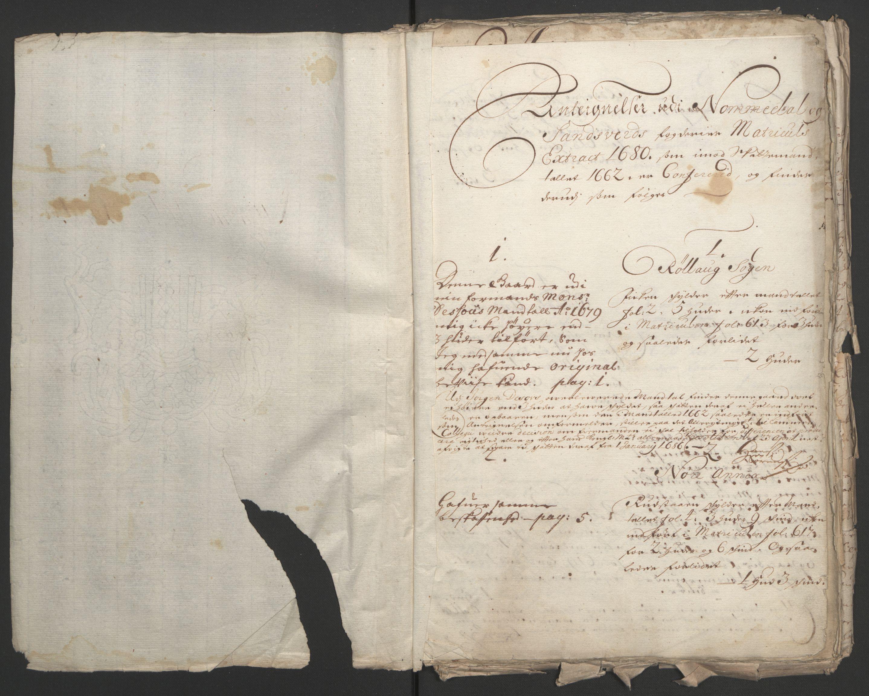 RA, Rentekammeret inntil 1814, Reviderte regnskaper, Fogderegnskap, R24/L1572: Fogderegnskap Numedal og Sandsvær, 1679-1686, s. 325