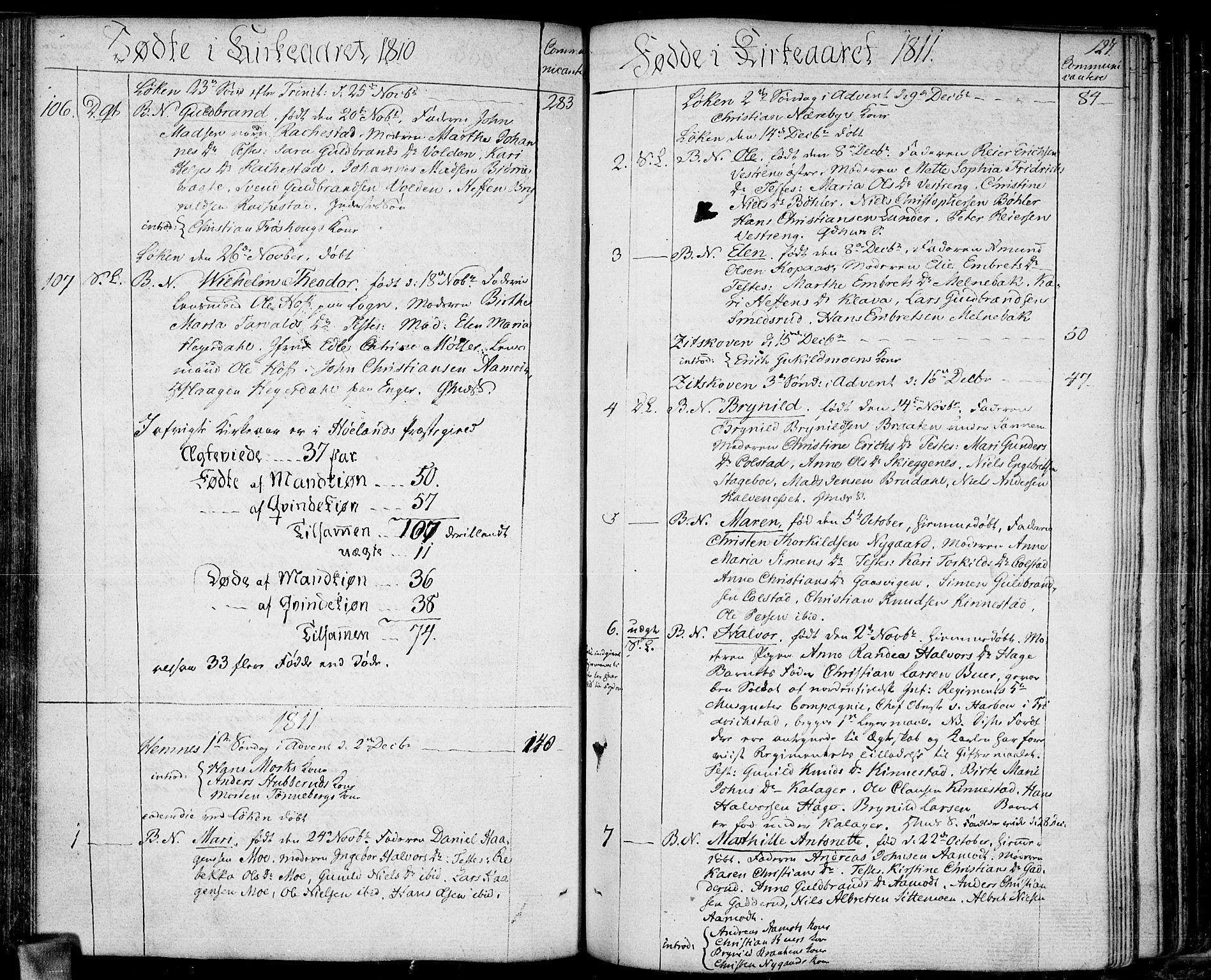 SAO, Høland prestekontor Kirkebøker, F/Fa/L0006: Ministerialbok nr. I 6, 1794-1814, s. 127