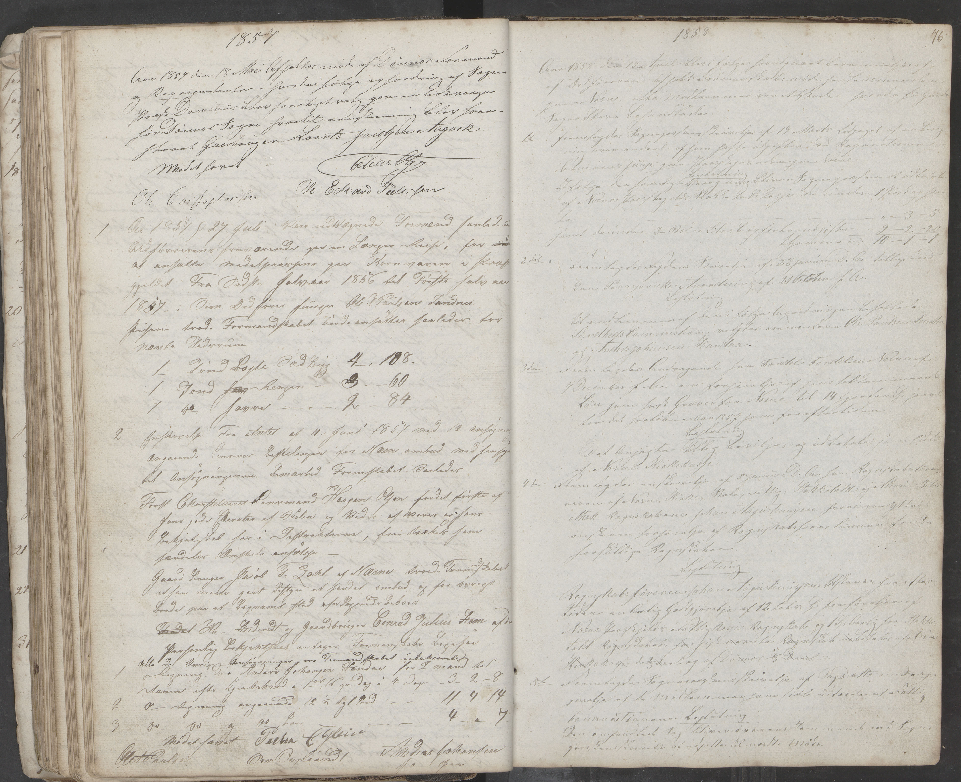 AIN, Nesna kommune. Formannskapet, 100/L0001: Møtebok, 1838-1873, s. 76