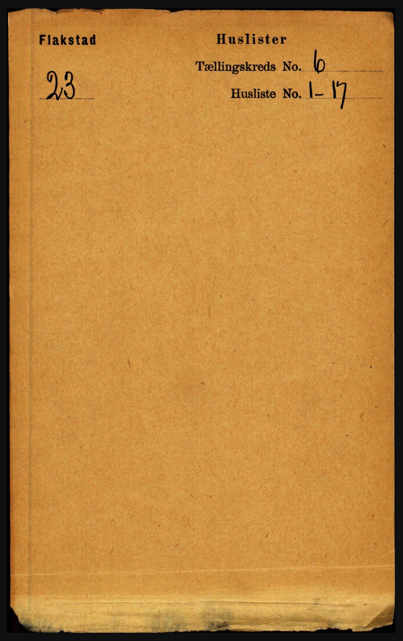 RA, Folketelling 1891 for 1859 Flakstad herred, 1891, s. 2927