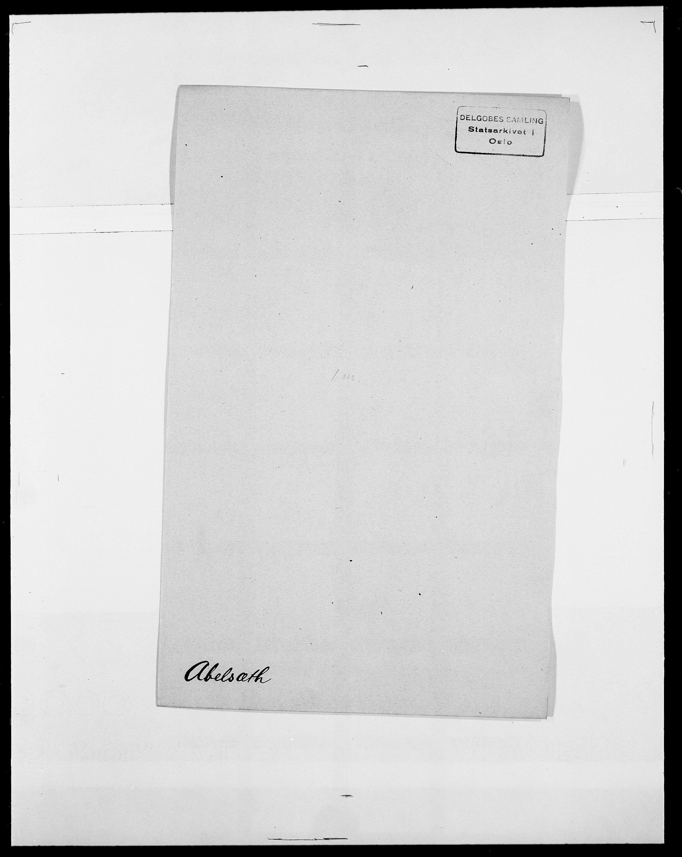 SAO, Delgobe, Charles Antoine - samling, D/Da/L0001: Aabye - Angerman, s. 202