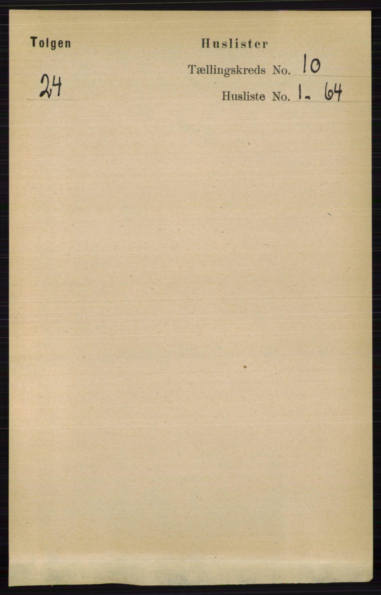 RA, Folketelling 1891 for 0436 Tolga herred, 1891, s. 2622