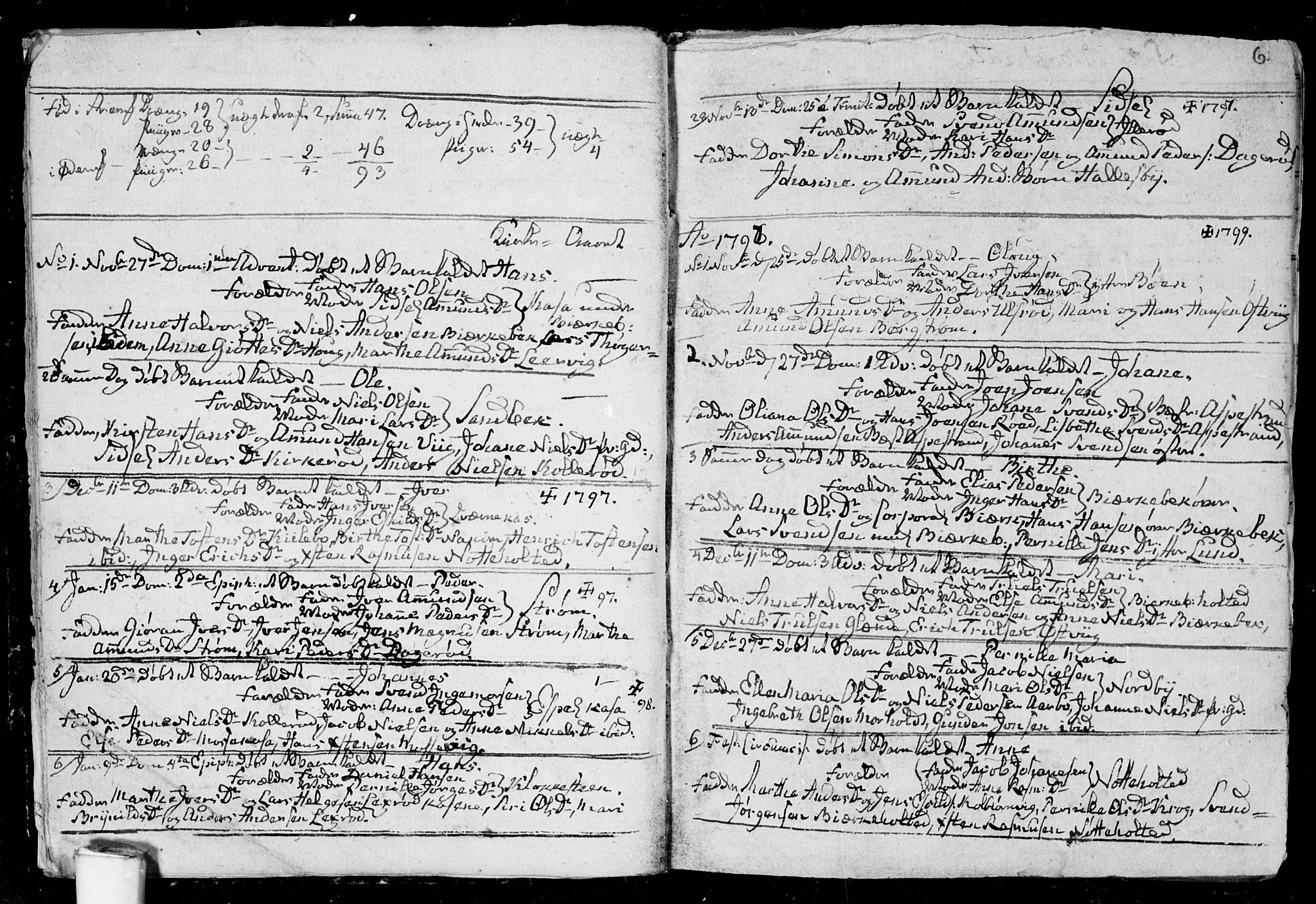 SAO, Aremark prestekontor Kirkebøker, F/Fa/L0004: Ministerialbok nr. I 4, 1796-1814, s. 6