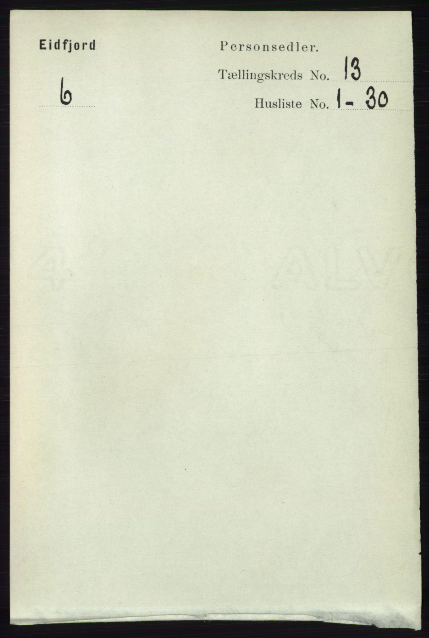 RA, Folketelling 1891 for 1233 Ulvik herred, 1891, s. 3894