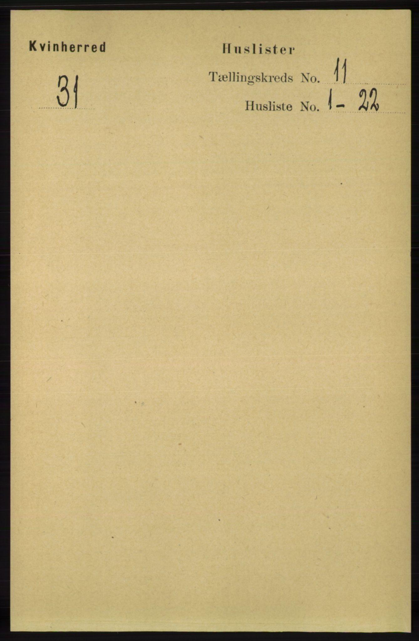 RA, Folketelling 1891 for 1224 Kvinnherad herred, 1891, s. 3785
