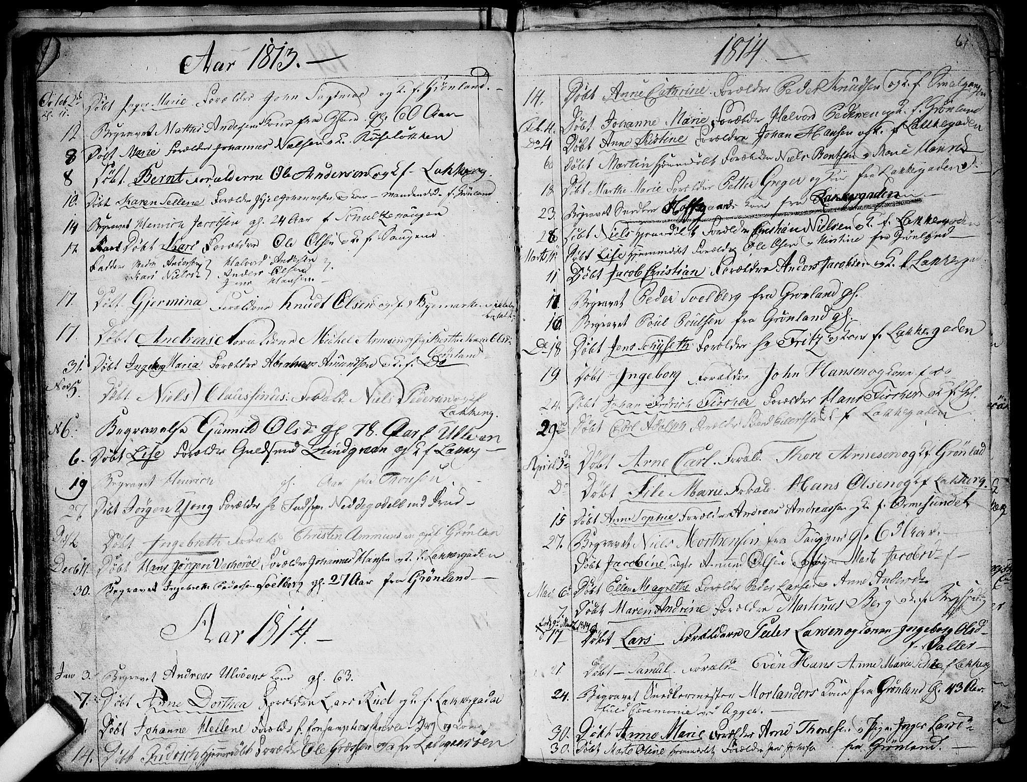 SAO, Aker prestekontor kirkebøker, G/L0001: Klokkerbok nr. 1, 1796-1826, s. 60-61