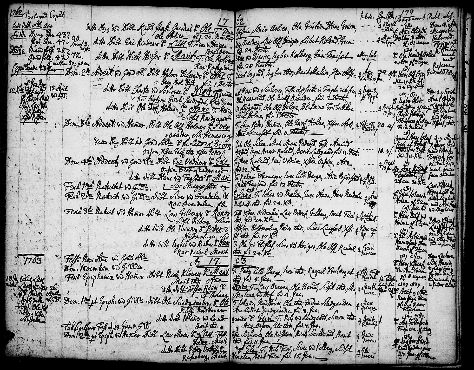 SAH, Fåberg prestekontor, Ministerialbok nr. 1, 1727-1775, s. 199