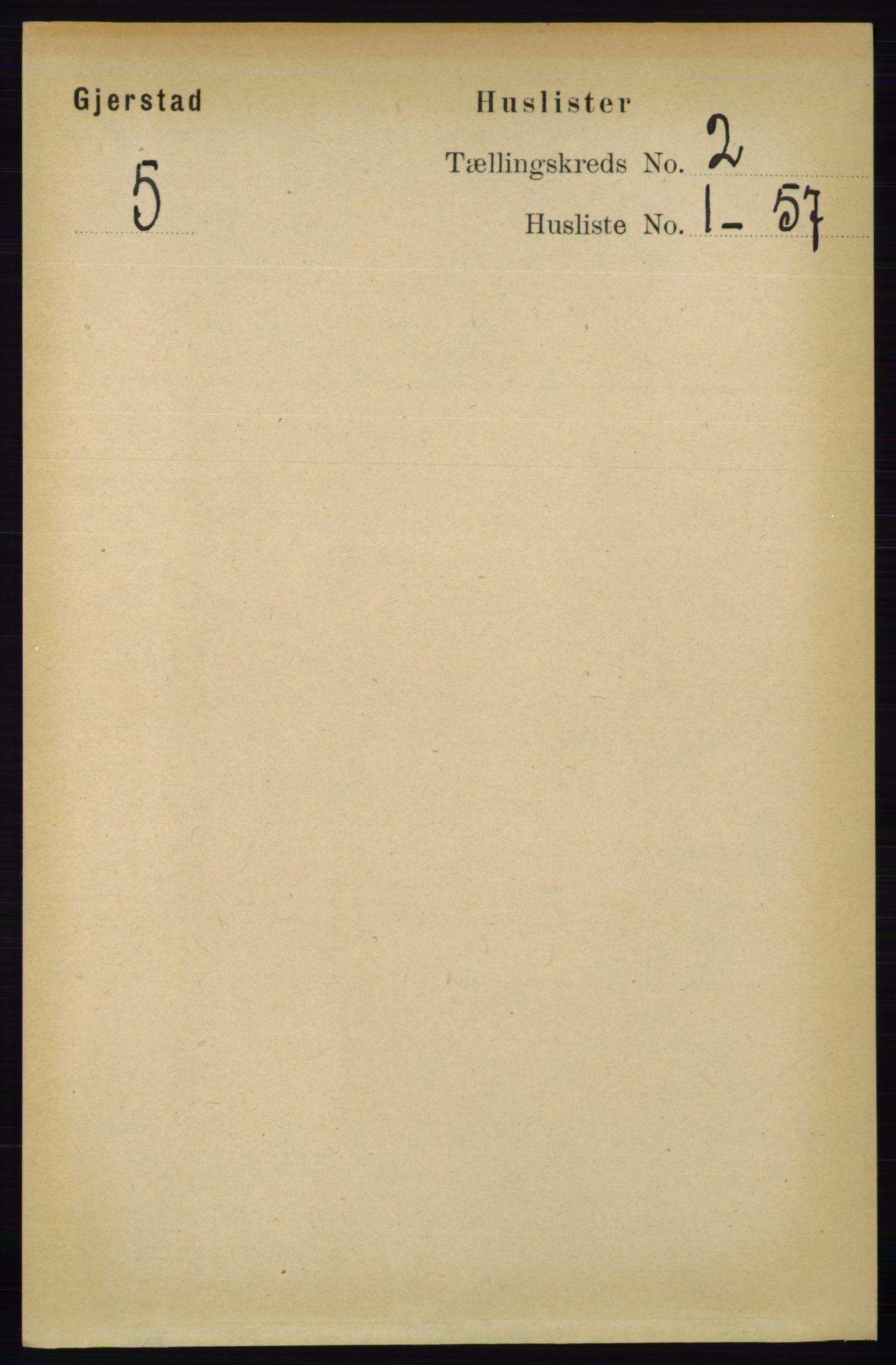 RA, Folketelling 1891 for 0911 Gjerstad herred, 1891, s. 593