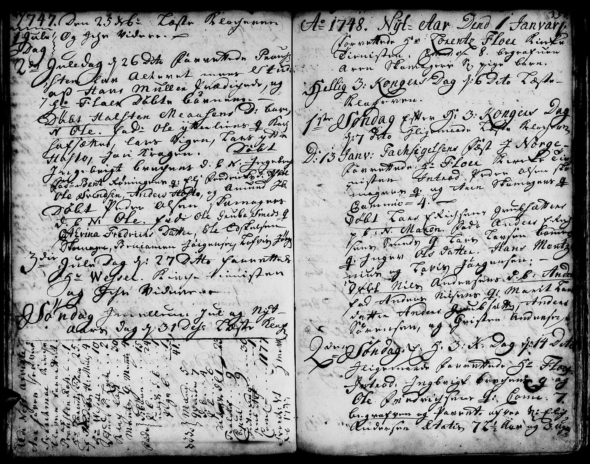 SAT, Ministerialprotokoller, klokkerbøker og fødselsregistre - Sør-Trøndelag, 671/L0839: Ministerialbok nr. 671A01, 1730-1755, s. 357-358