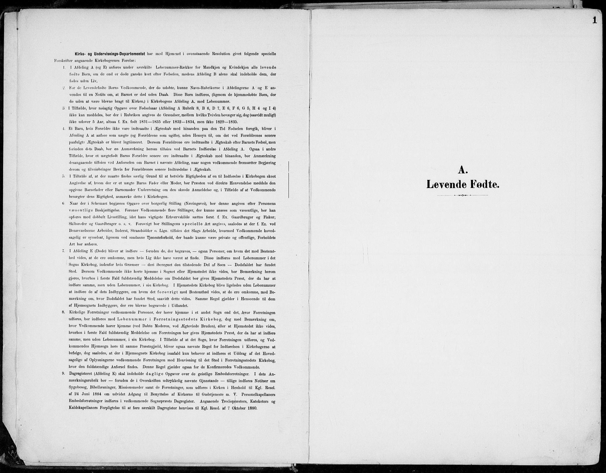 SAH, Lillehammer prestekontor, Ministerialbok nr. 1, 1901-1916, s. 1