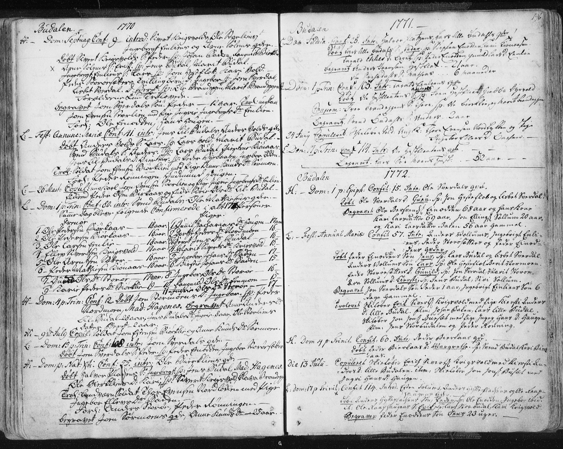 SAT, Ministerialprotokoller, klokkerbøker og fødselsregistre - Sør-Trøndelag, 687/L0991: Ministerialbok nr. 687A02, 1747-1790, s. 196