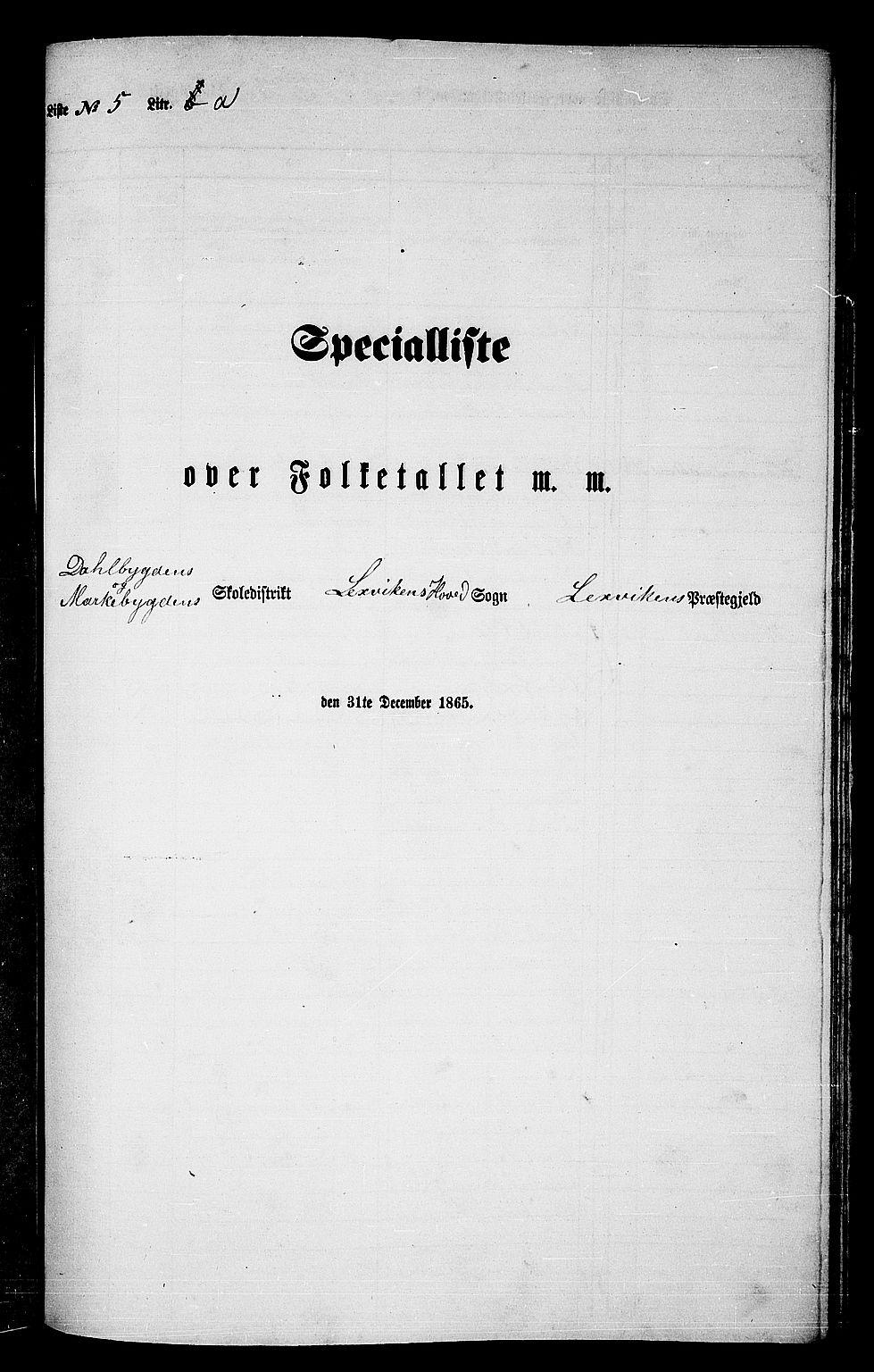 RA, Folketelling 1865 for 1718P Leksvik prestegjeld, 1865, s. 112