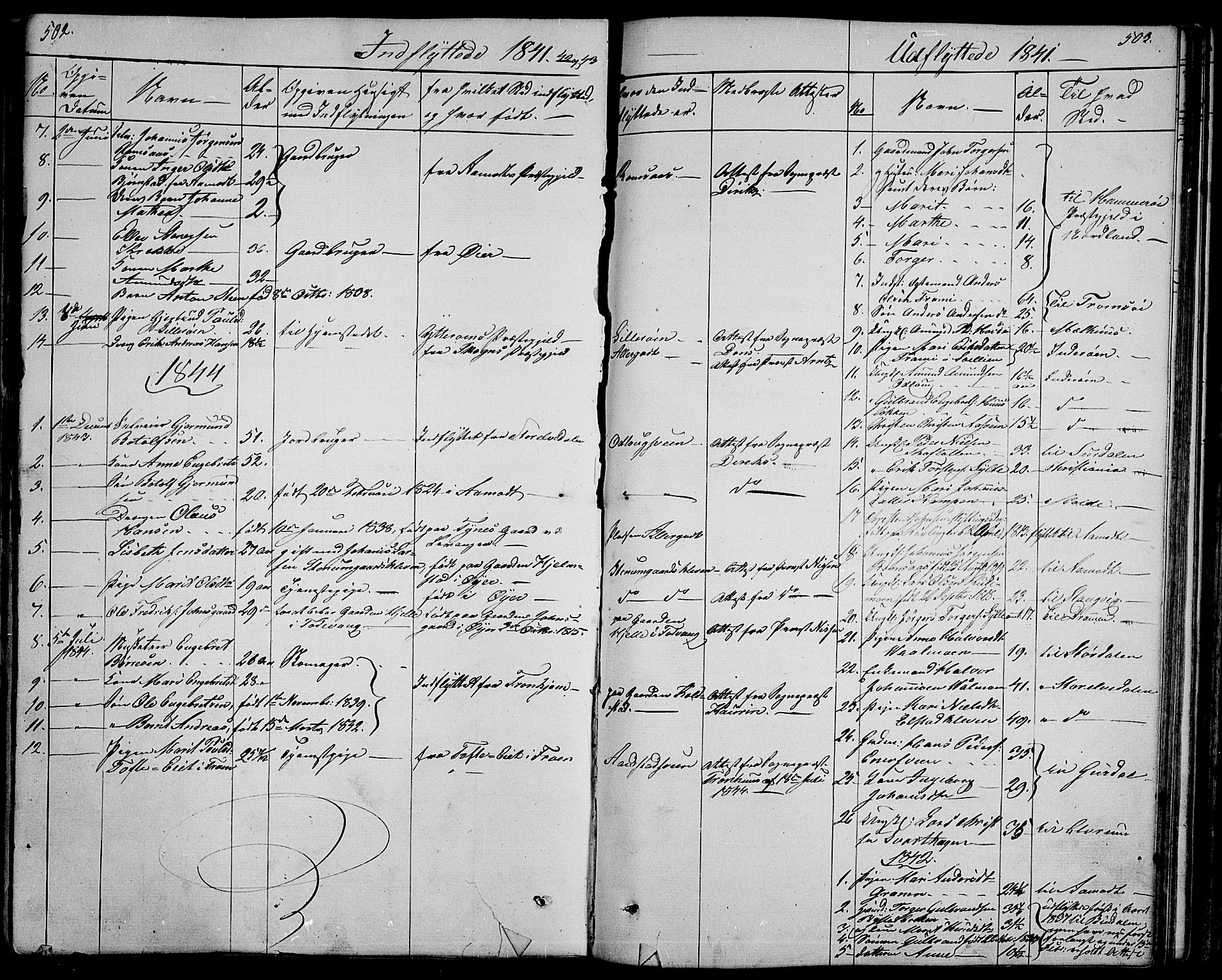 SAH, Ringebu prestekontor, Klokkerbok nr. 2, 1839-1853, s. 502-503