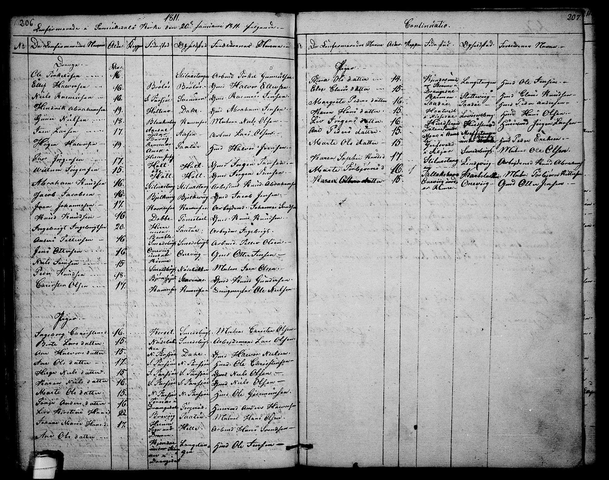 SAKO, Sannidal kirkebøker, F/Fa/L0003: Ministerialbok nr. 3, 1803-1813, s. 206-207