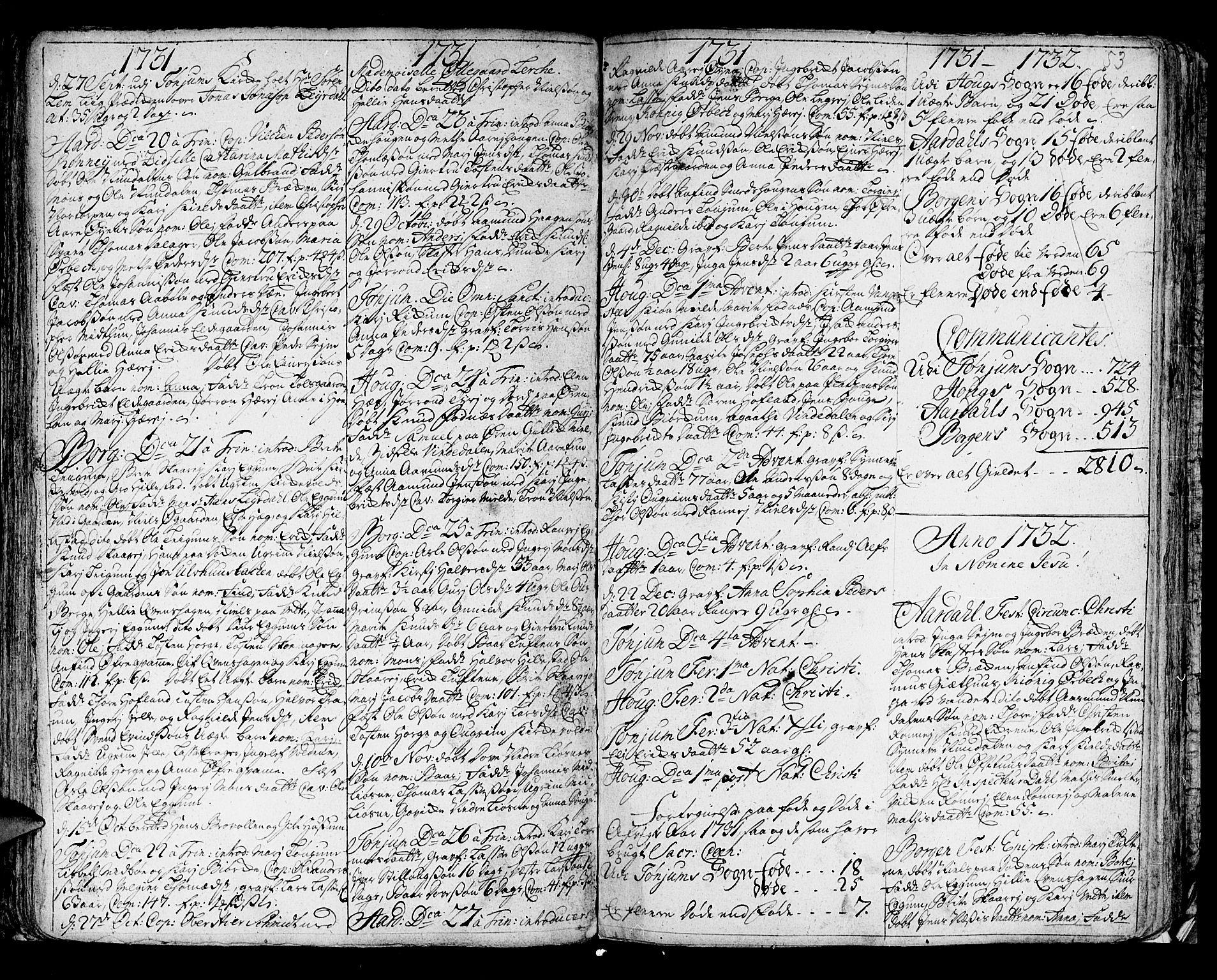 SAB, Lærdal sokneprestembete, Ministerialbok nr. A 1, 1711-1752, s. 53