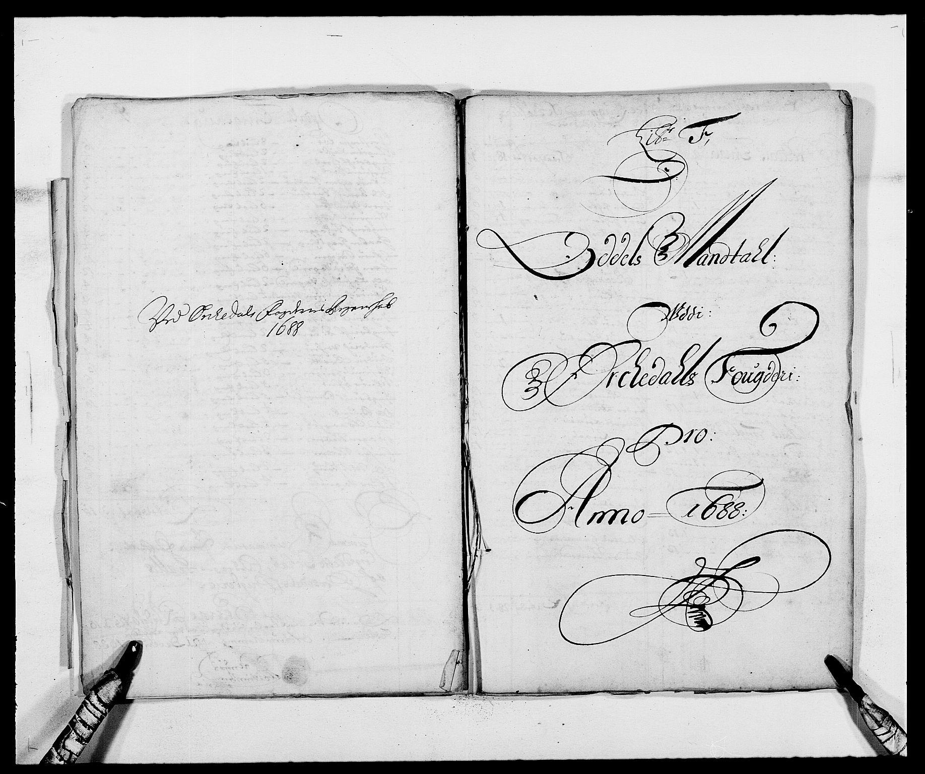 RA, Rentekammeret inntil 1814, Reviderte regnskaper, Fogderegnskap, R58/L3935: Fogderegnskap Orkdal, 1687-1688, s. 273