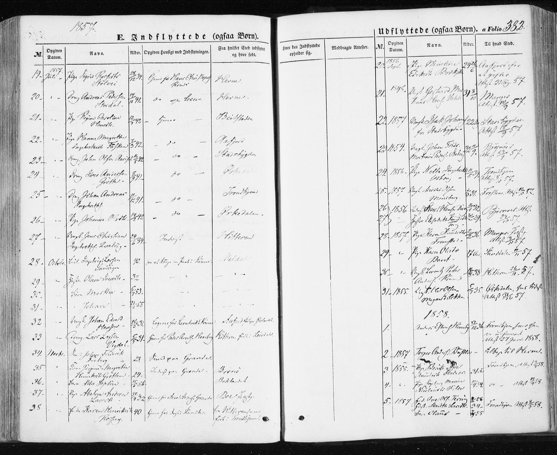 SAT, Ministerialprotokoller, klokkerbøker og fødselsregistre - Sør-Trøndelag, 659/L0737: Ministerialbok nr. 659A07, 1857-1875, s. 382