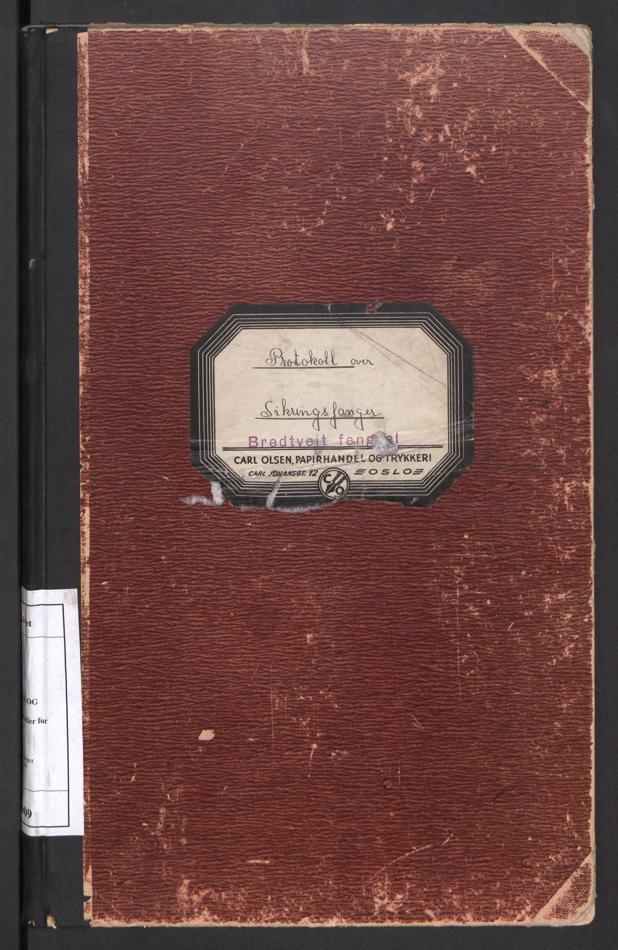 RA, Statspolitiet - Hovedkontoret / Osloavdelingen, C/Cl/L0009: Protokoll for sikringsfanger, 1941-1944