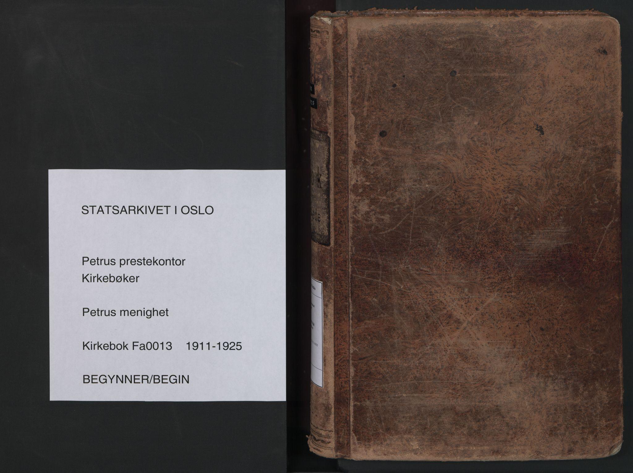 SAO, Petrus prestekontor Kirkebøker, F/Fa/L0013: Ministerialbok nr. 13, 1911-1925