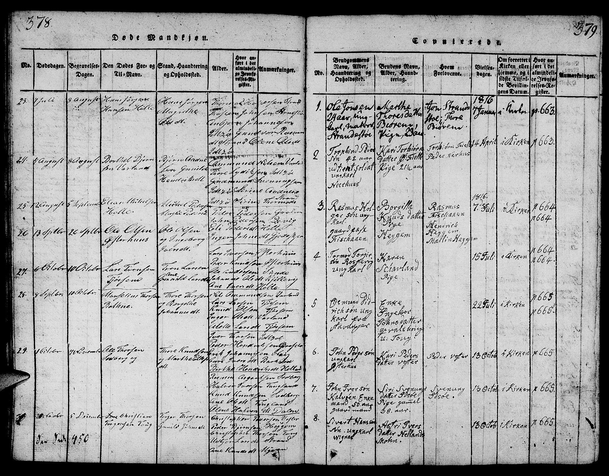 SAST, Strand sokneprestkontor, H/Ha/Hab/L0001: Klokkerbok nr. B 1, 1816-1854, s. 378-379