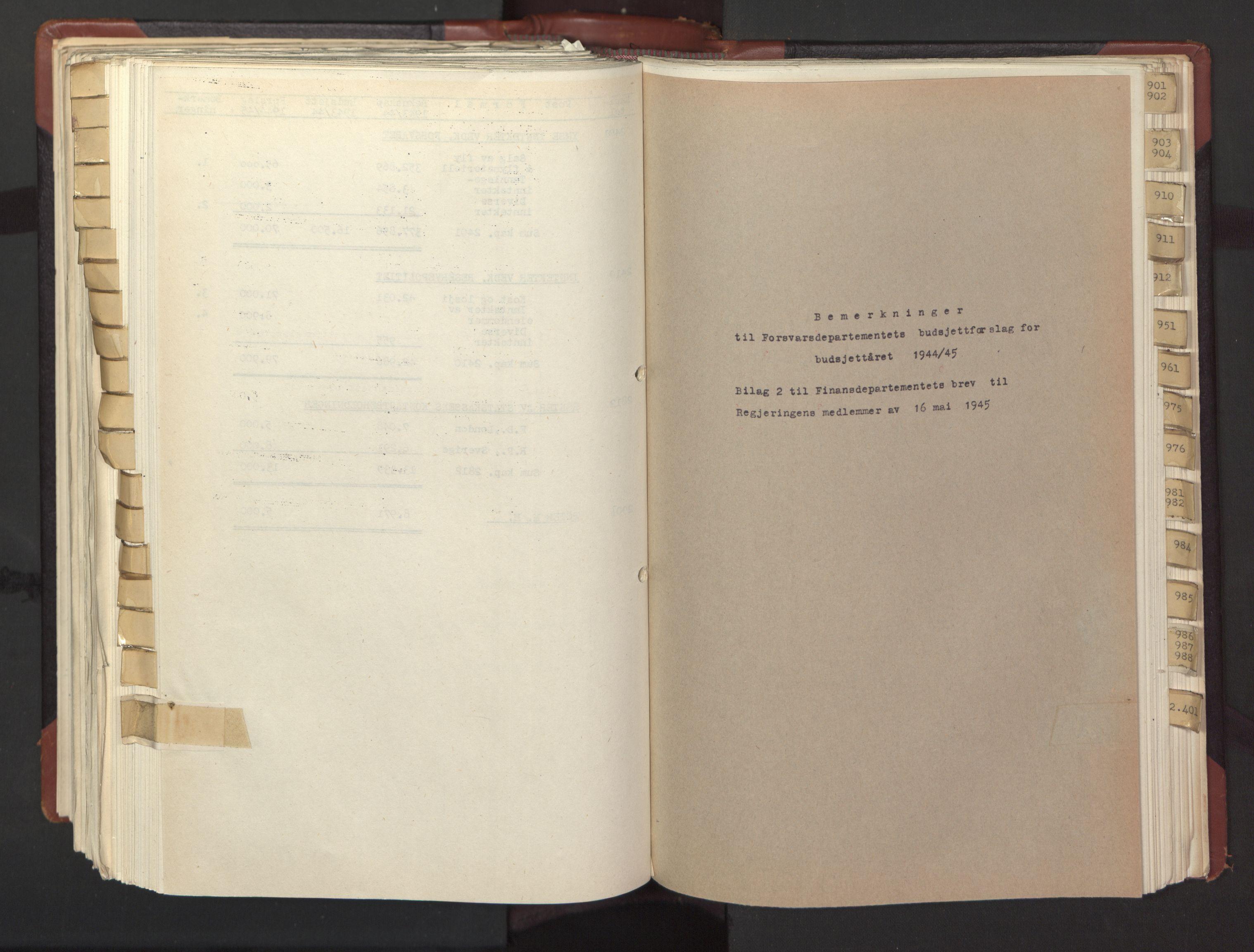 RA, Statsrådssekretariatet, A/Ac/L0126: Kgl. res. 12/1-25/5, 1945, s. upaginert