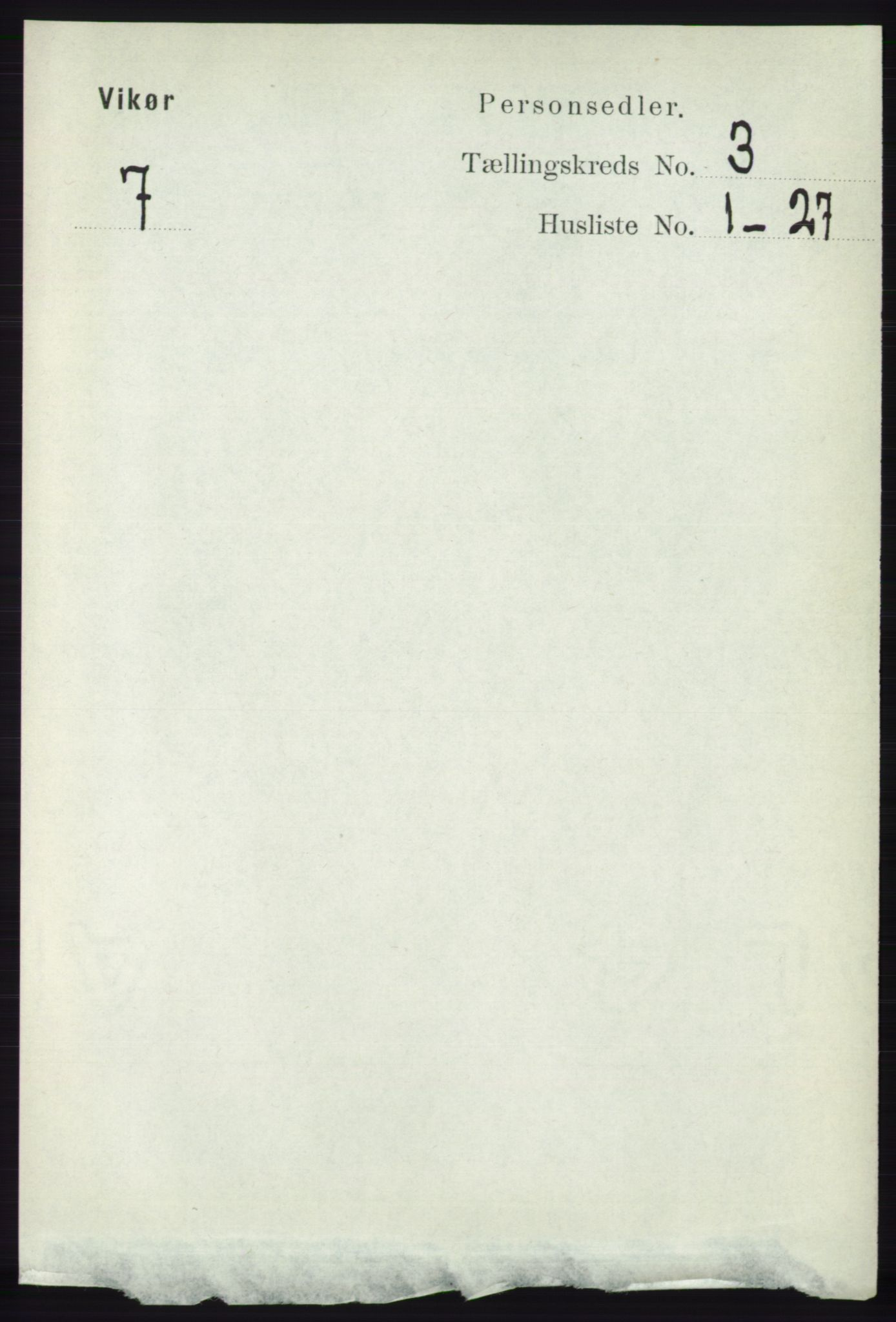 RA, Folketelling 1891 for 1238 Vikør herred, 1891, s. 745
