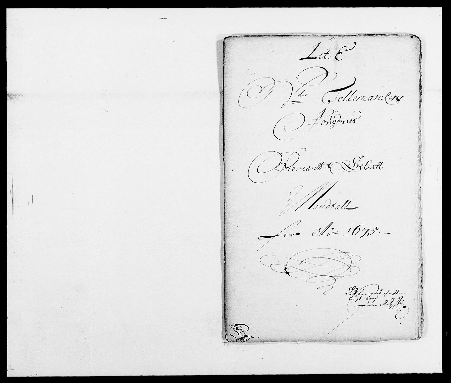 RA, Rentekammeret inntil 1814, Reviderte regnskaper, Fogderegnskap, R35/L2063: Fogderegnskap Øvre og Nedre Telemark, 1675, s. 110