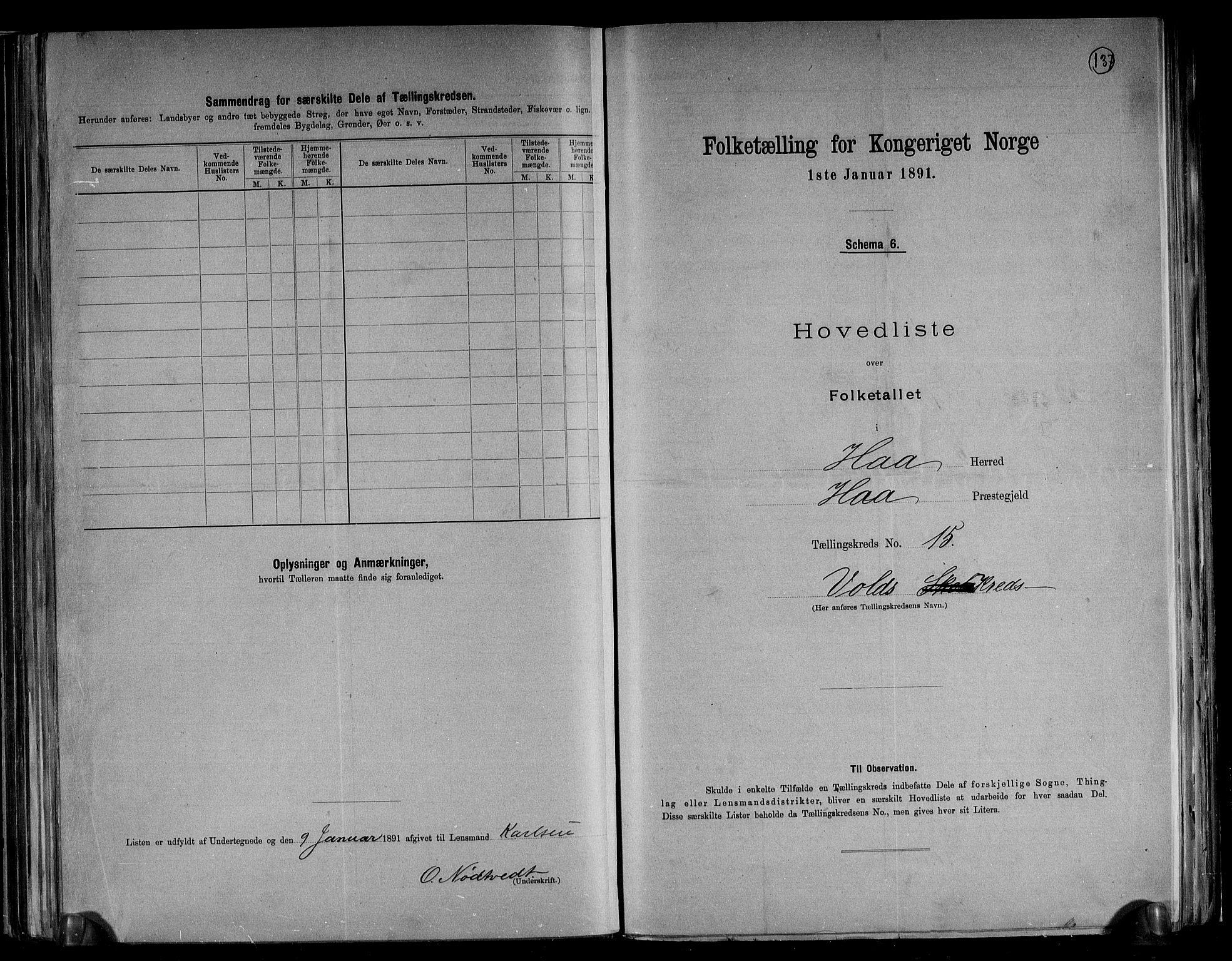 RA, Folketelling 1891 for 1119 Hå herred, 1891, s. 34