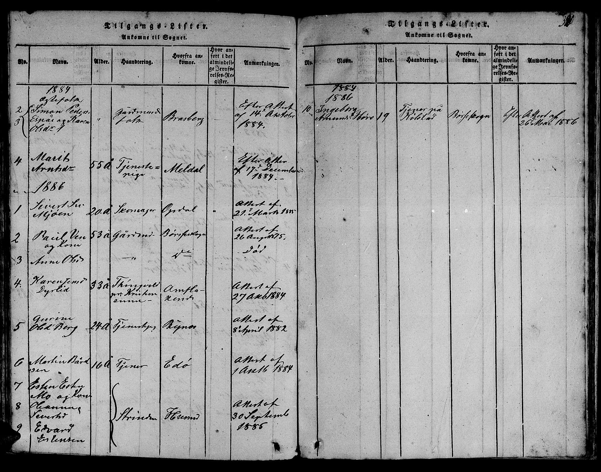 SAT, Ministerialprotokoller, klokkerbøker og fødselsregistre - Sør-Trøndelag, 613/L0393: Klokkerbok nr. 613C01, 1816-1886, s. 320