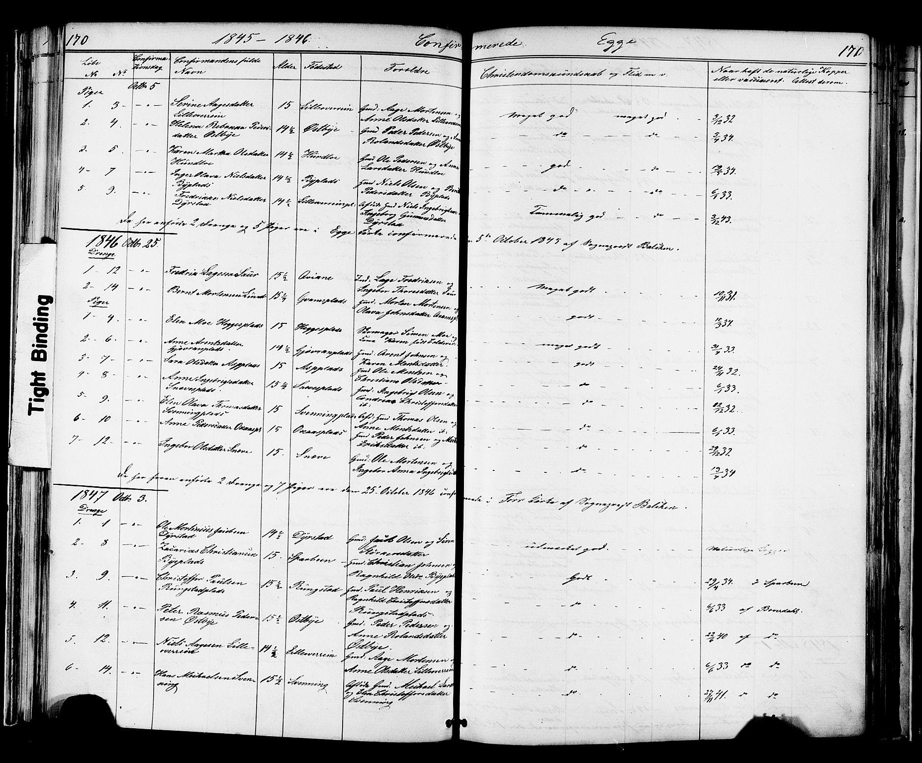 SAT, Ministerialprotokoller, klokkerbøker og fødselsregistre - Nord-Trøndelag, 739/L0367: Ministerialbok nr. 739A01 /3, 1838-1868, s. 170-171