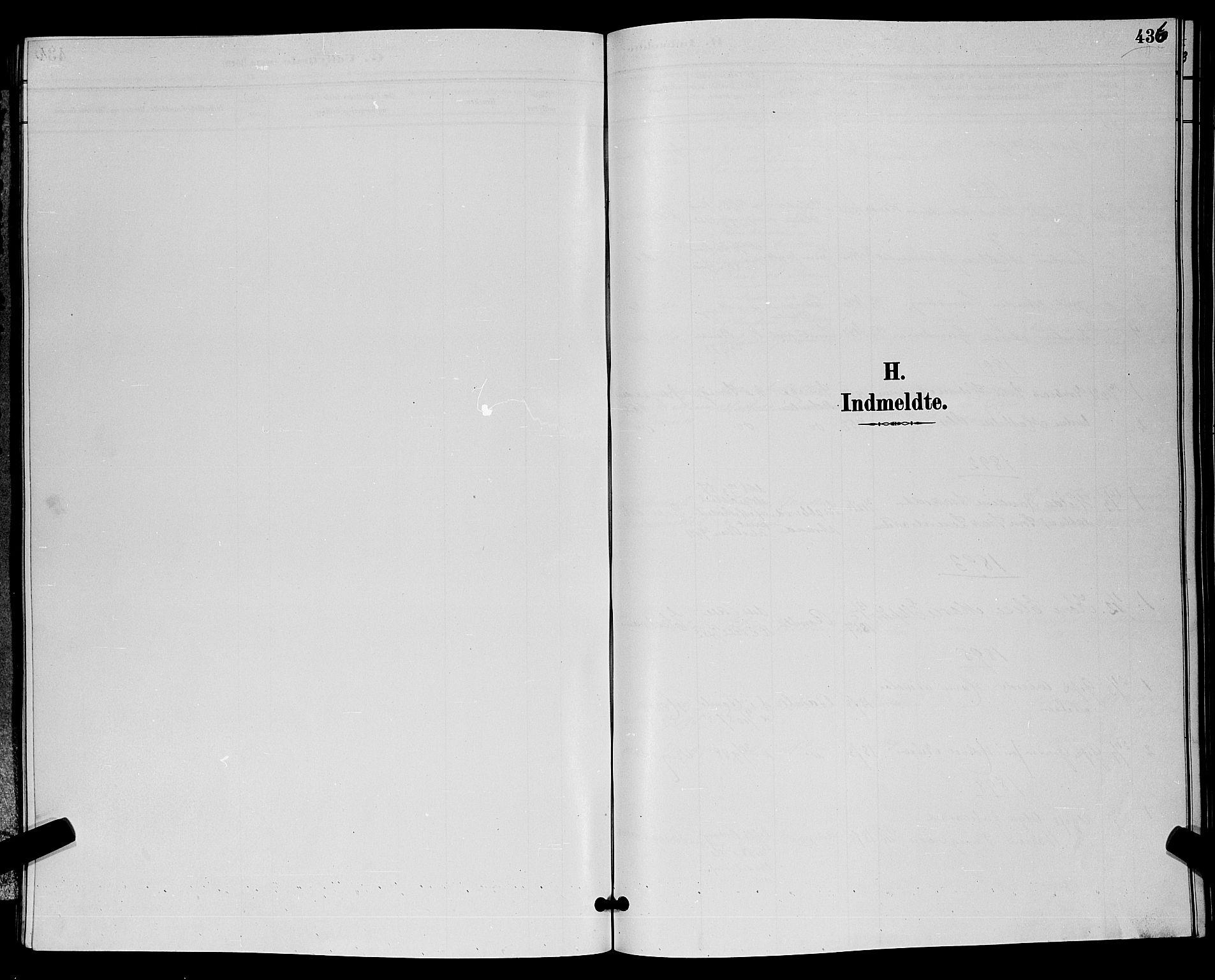 SAKO, Bamble kirkebøker, G/Ga/L0009: Klokkerbok nr. I 9, 1888-1900, s. 436