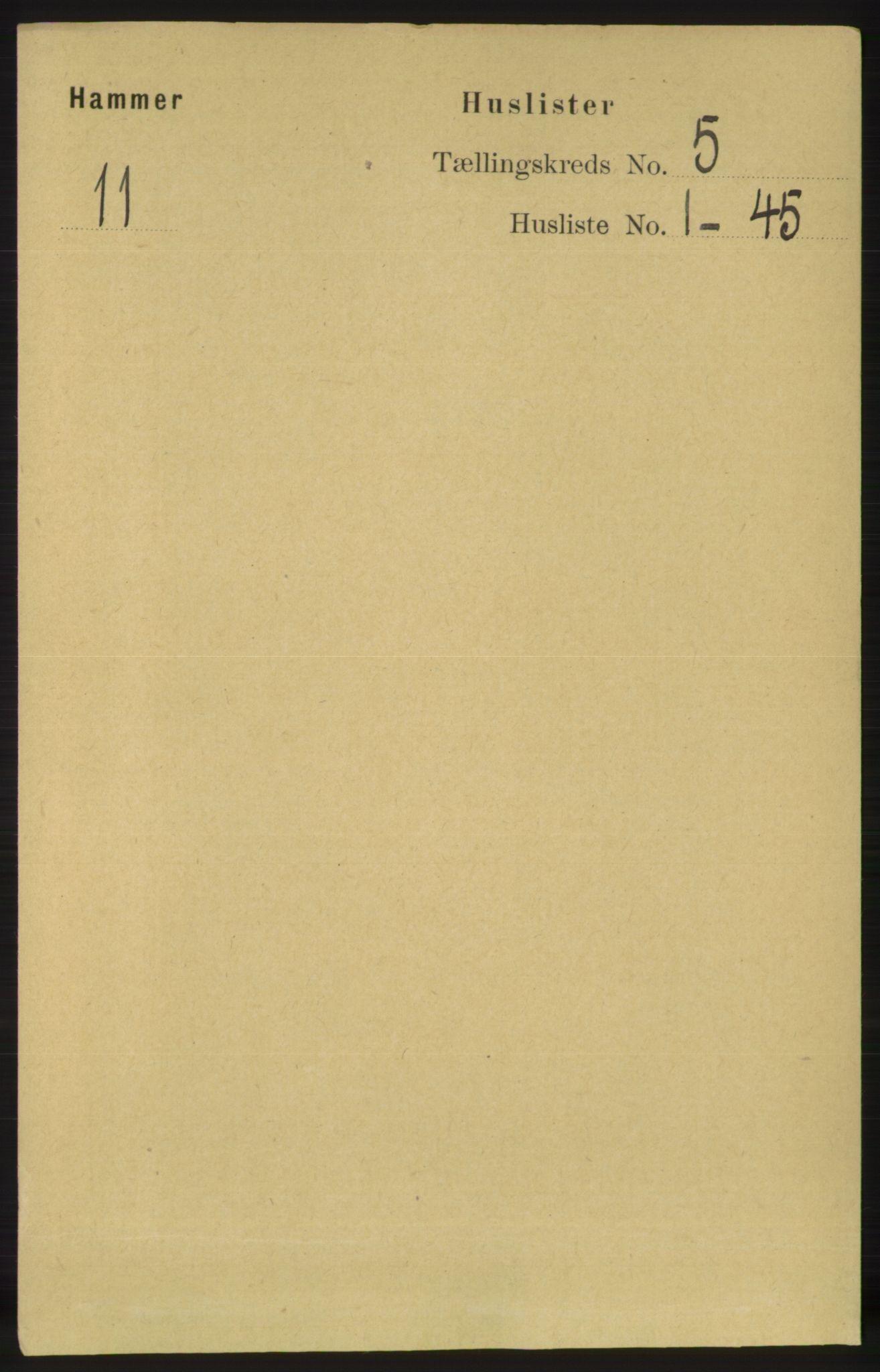 RA, Folketelling 1891 for 1254 Hamre herred, 1891, s. 1172