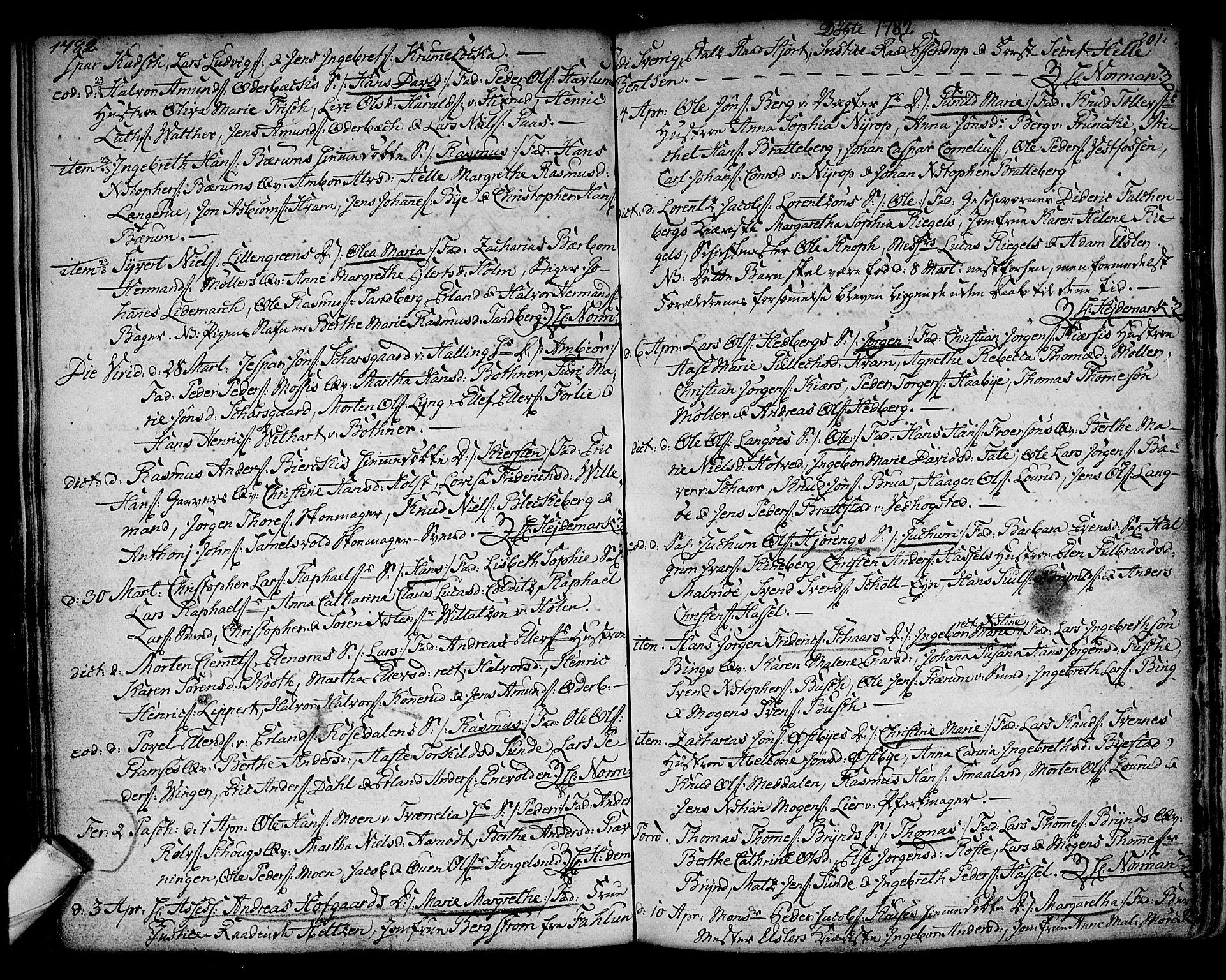 SAKO, Kongsberg kirkebøker, F/Fa/L0005: Ministerialbok nr. I 5, 1769-1782, s. 201