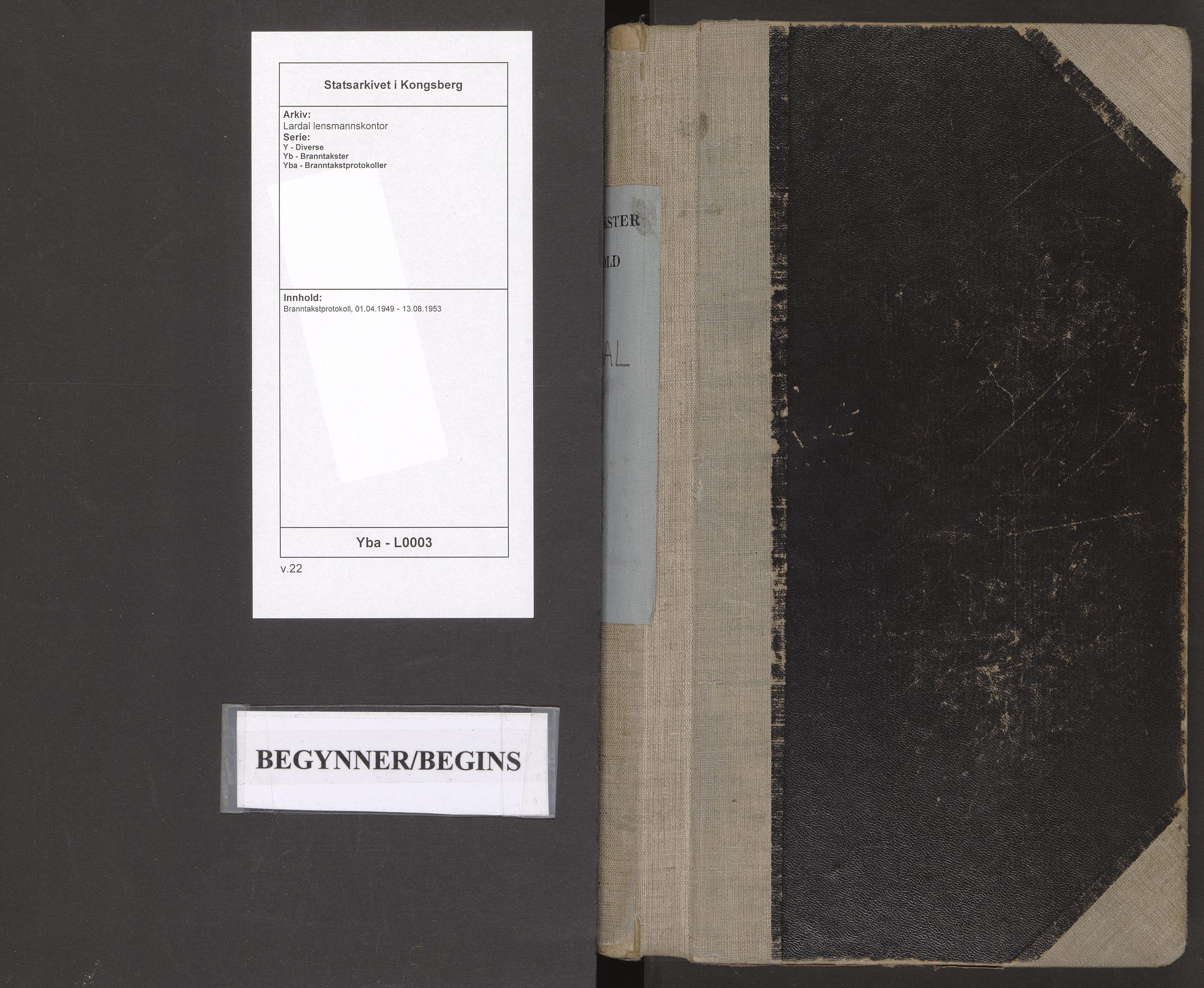 SAKO, Lardal lensmannskontor, Y/Yb/Yba/L0003: Branntakstprotokoll, 1949-1953