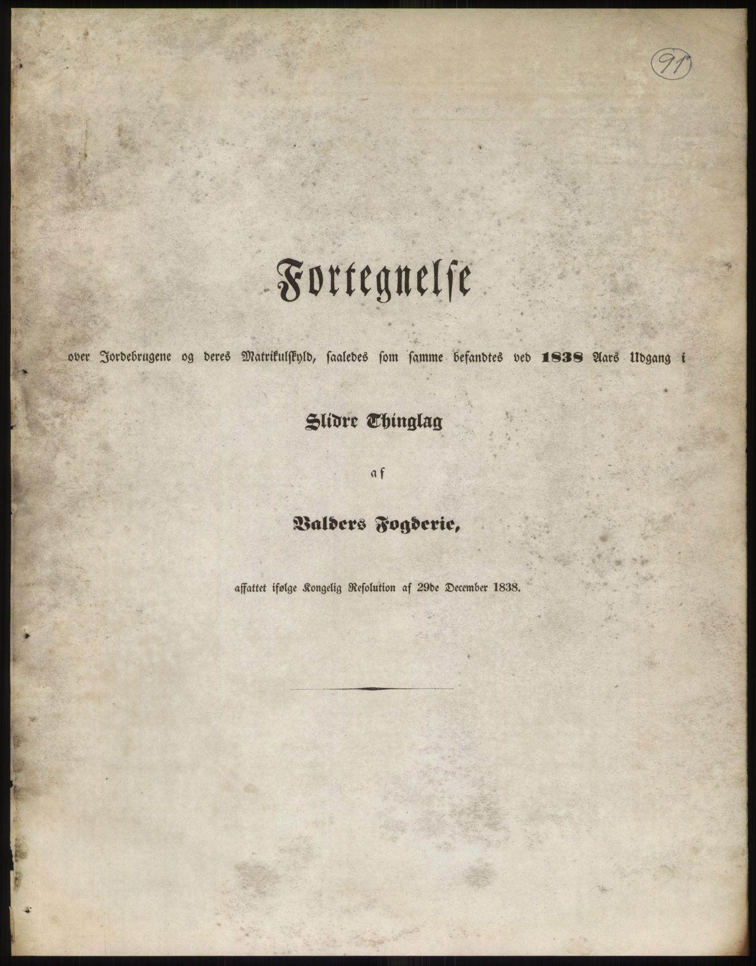 RA, 1838-matrikkelen (publikasjon)*, 1838, s. 91