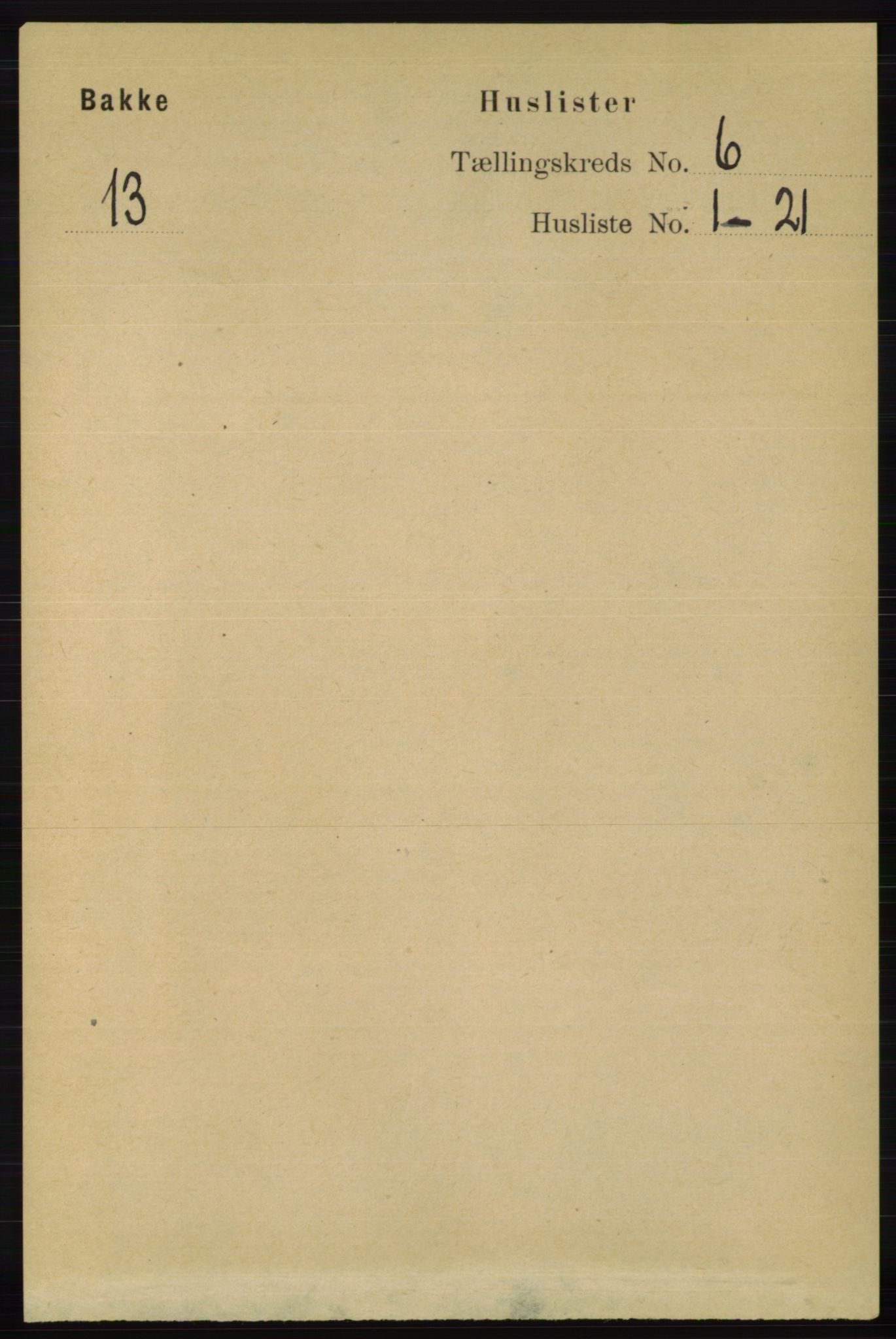 RA, Folketelling 1891 for 1045 Bakke herred, 1891, s. 1148