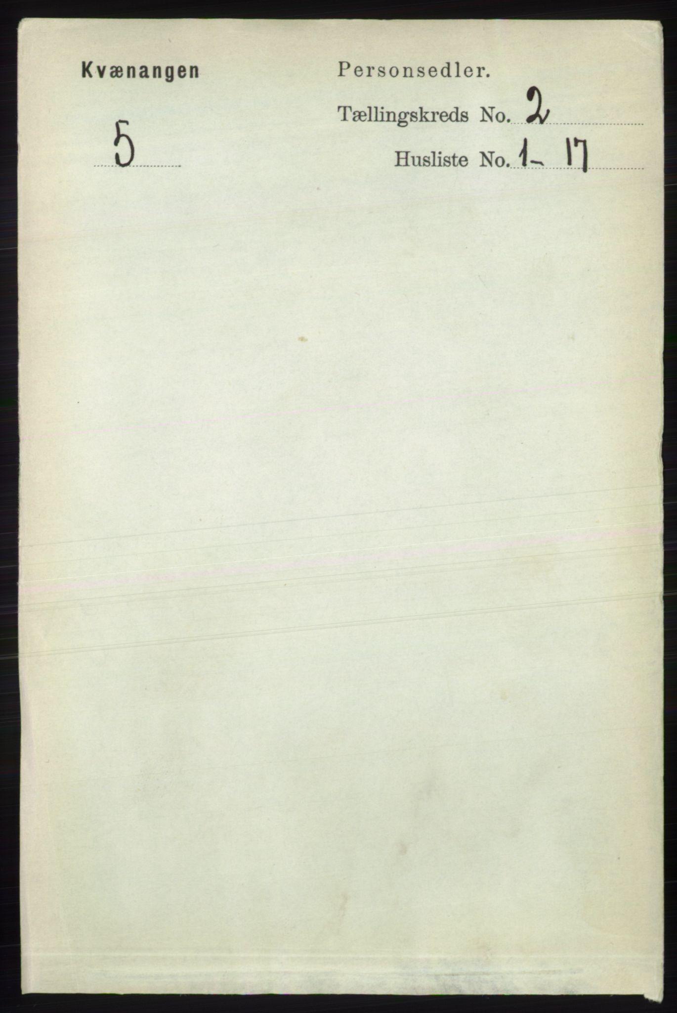 RA, Folketelling 1891 for 1943 Kvænangen herred, 1891, s. 411