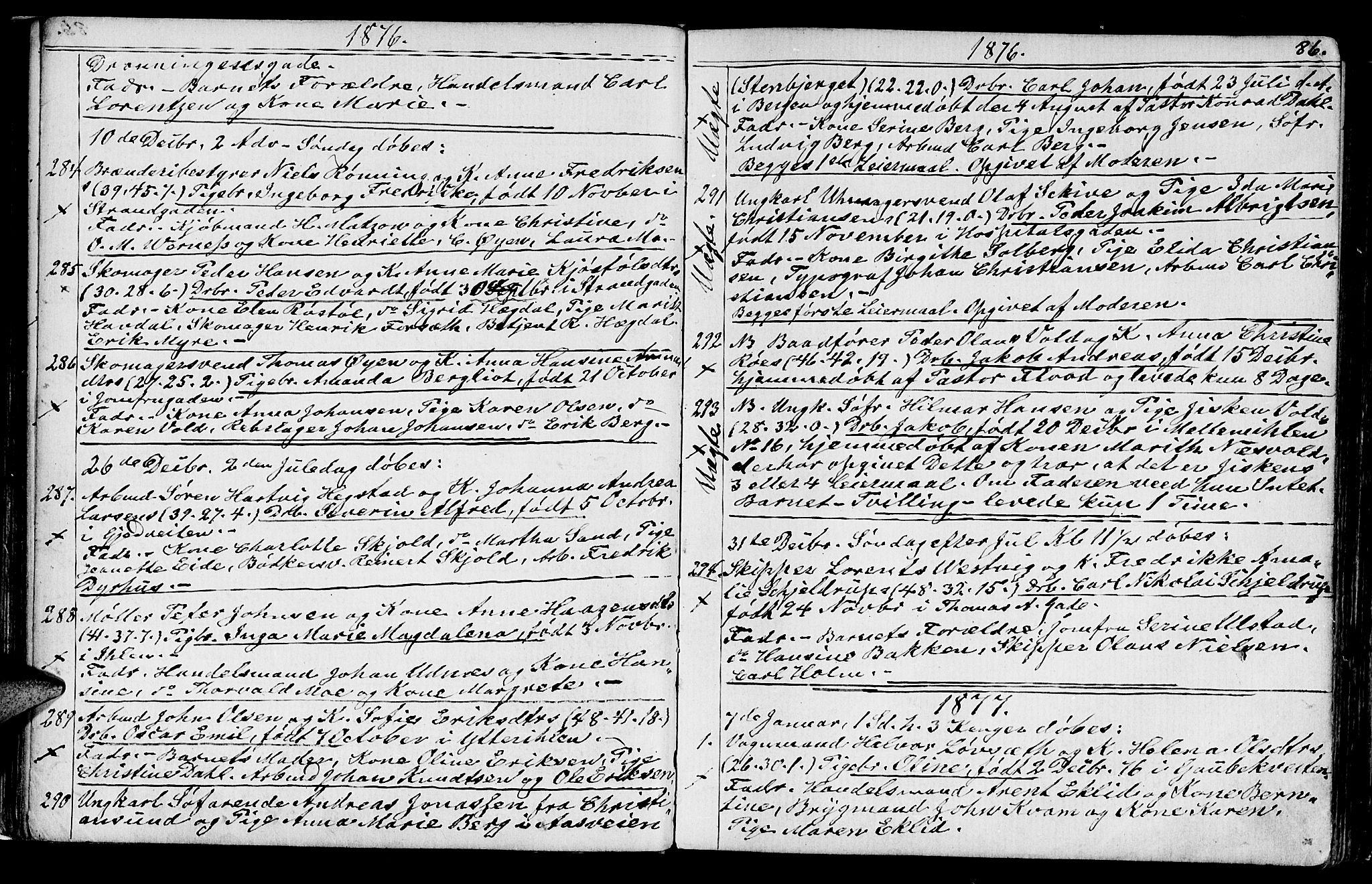 SAT, Ministerialprotokoller, klokkerbøker og fødselsregistre - Sør-Trøndelag, 602/L0142: Klokkerbok nr. 602C10, 1872-1894, s. 86