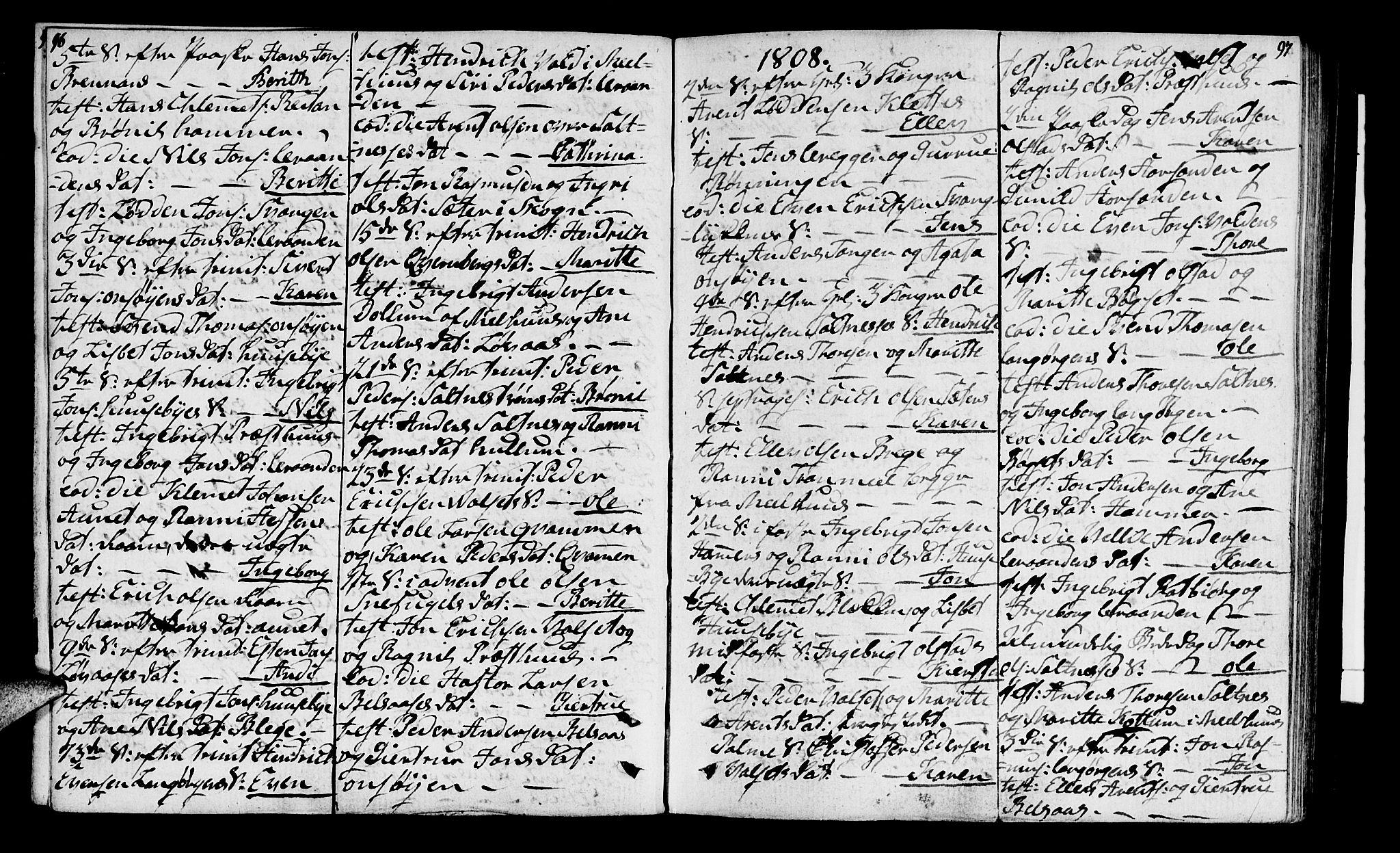 SAT, Ministerialprotokoller, klokkerbøker og fødselsregistre - Sør-Trøndelag, 666/L0785: Ministerialbok nr. 666A03, 1803-1816, s. 96-97