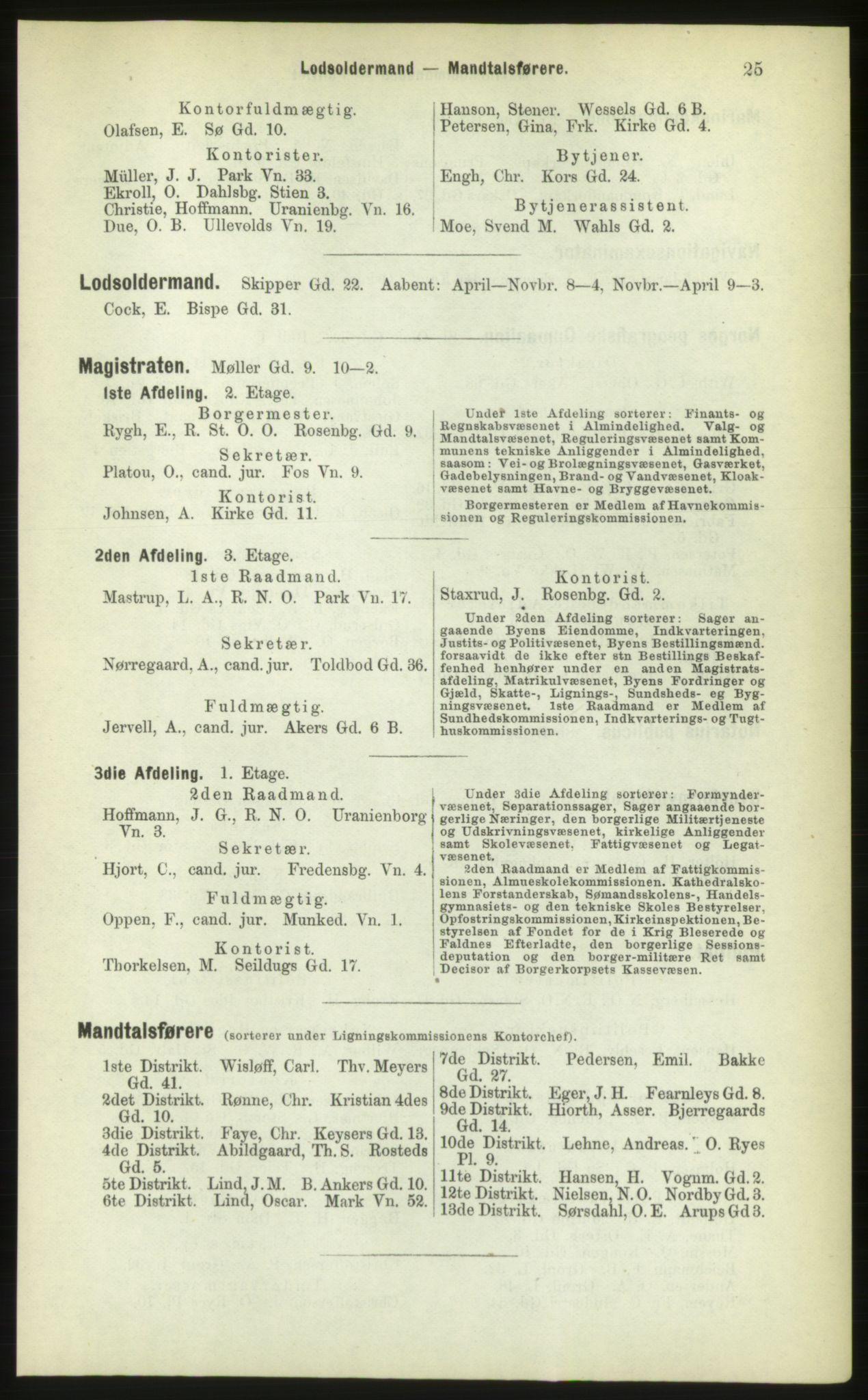 PUBL, Kristiania/Oslo adressebok, 1883, s. 25