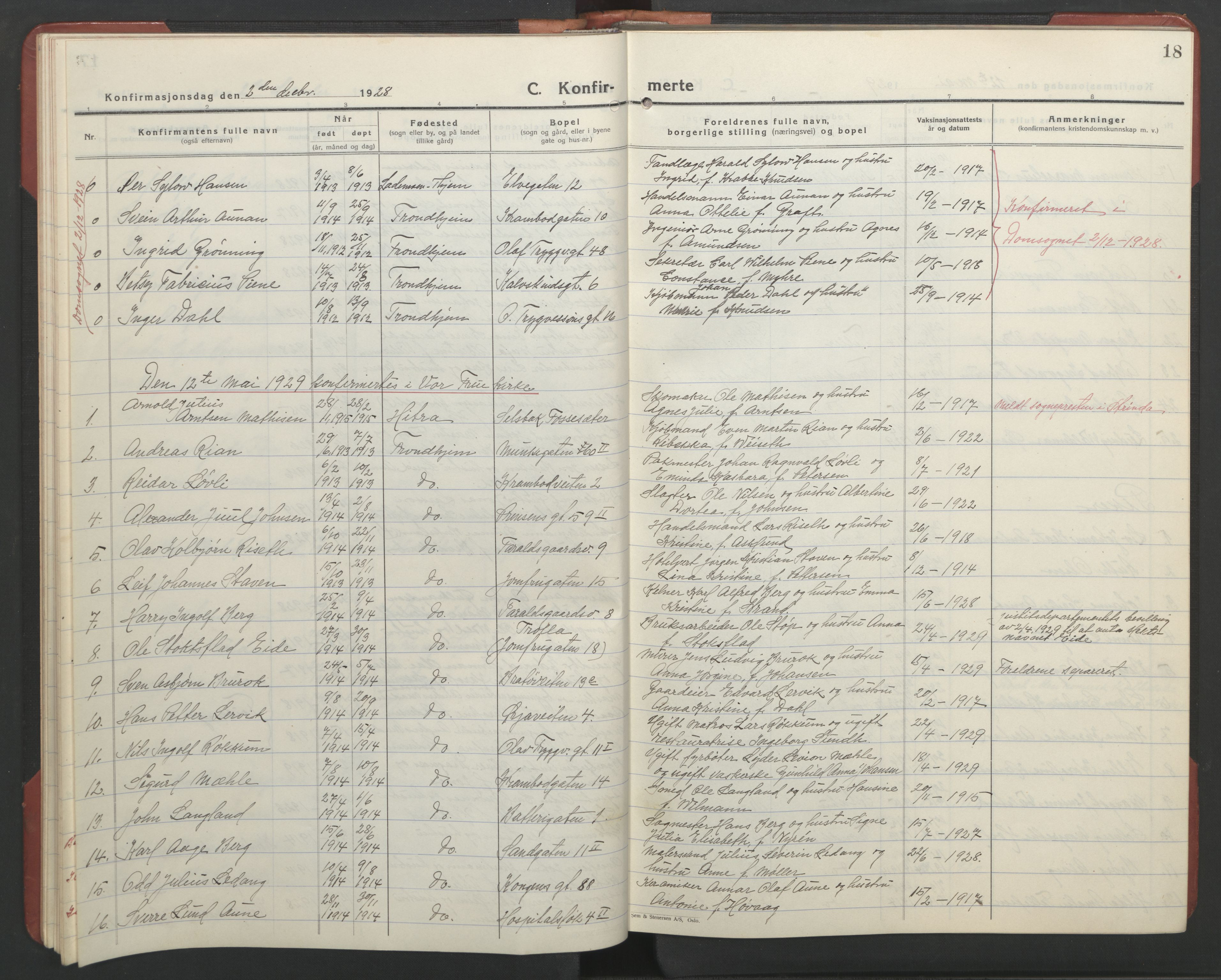 SAT, Ministerialprotokoller, klokkerbøker og fødselsregistre - Sør-Trøndelag, 602/L0151: Klokkerbok nr. 602C19, 1925-1951, s. 18