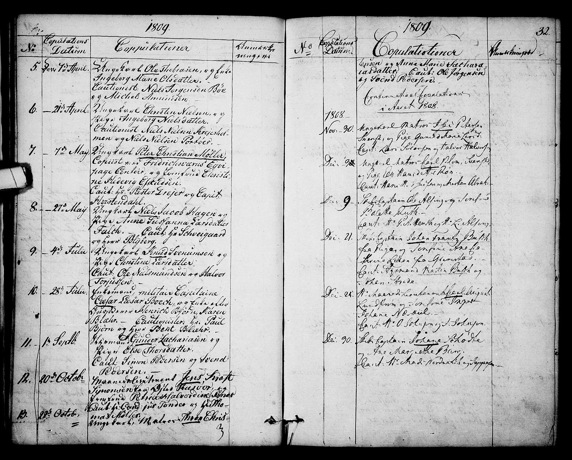 SAKO, Kragerø kirkebøker, F/Fa/L0003: Ministerialbok nr. 3, 1802-1813, s. 32