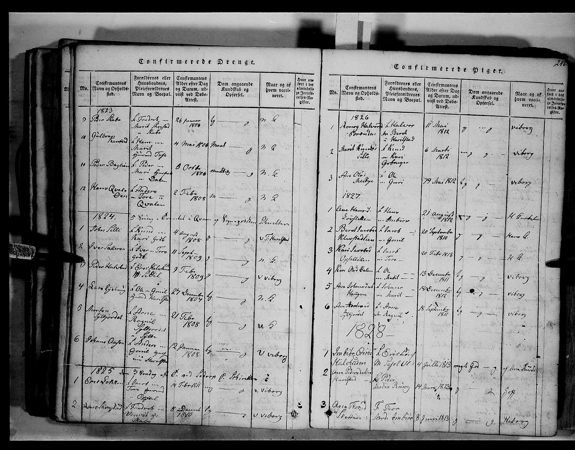 SAH, Fron prestekontor, H/Ha/Hab/L0003: Klokkerbok nr. 3, 1816-1850, s. 246