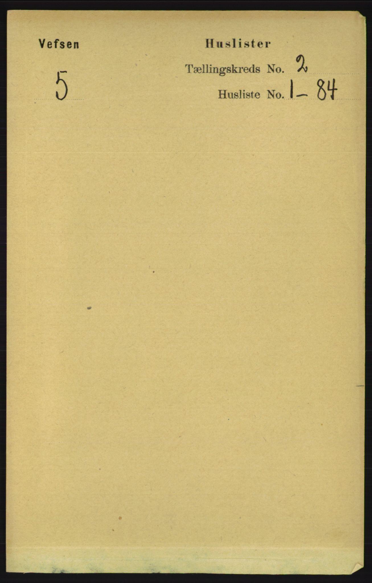 RA, Folketelling 1891 for 1824 Vefsn herred, 1891, s. 536