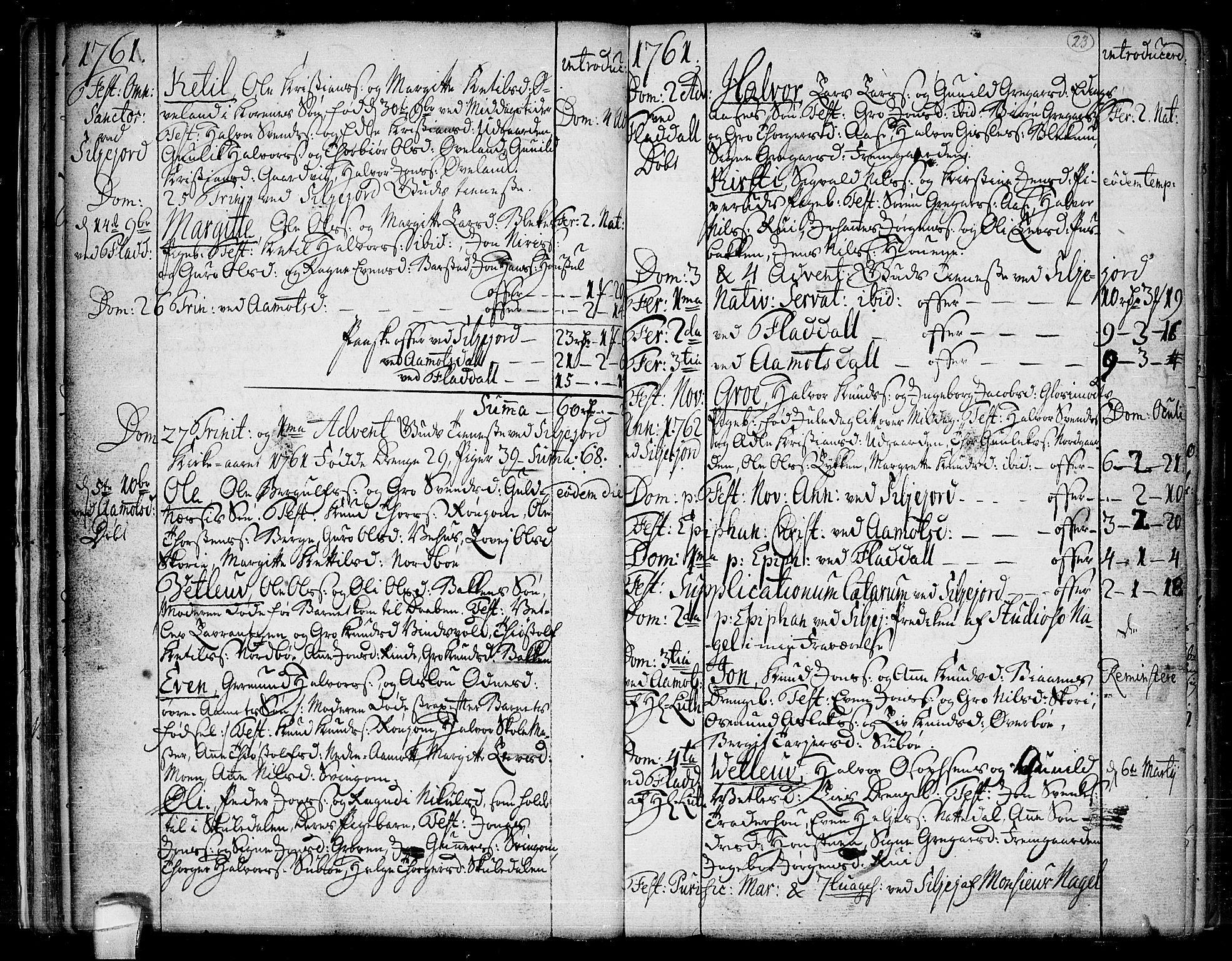 SAKO, Seljord kirkebøker, F/Fa/L0007: Ministerialbok nr. I 7, 1755-1800, s. 23