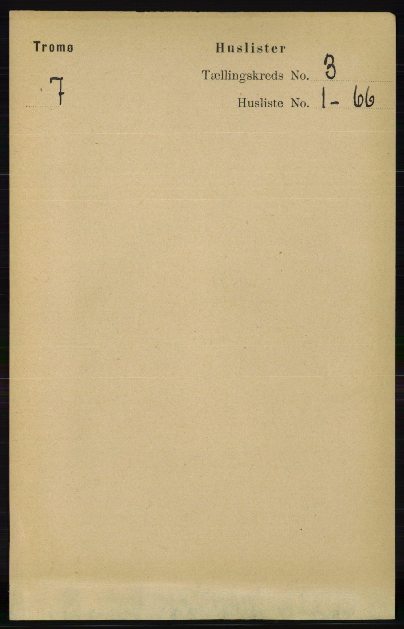 RA, Folketelling 1891 for 0921 Tromøy herred, 1891, s. 890